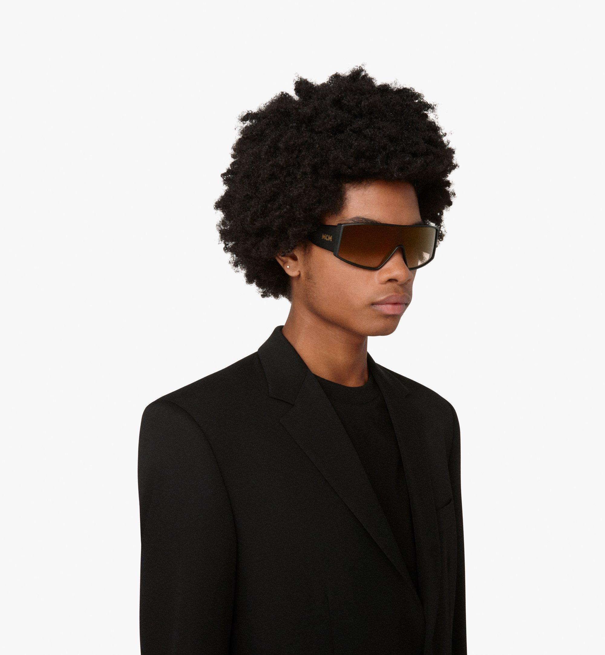 MCM Shield Sunglasses Gold MEG9A2I11DG001 Alternate View 2