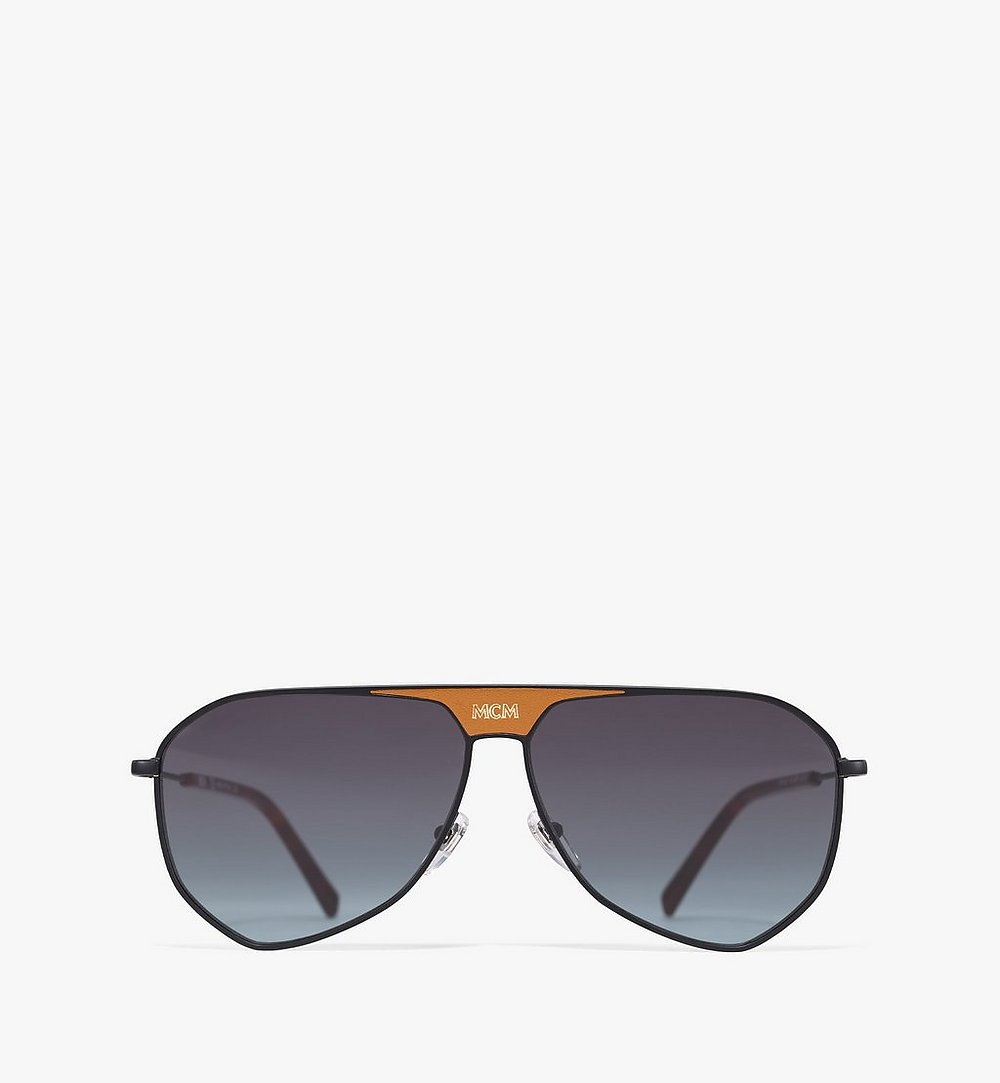 MCM Men's 149SL Aviator Sunglasses Black MEGAAMM10B2001 Alternate View 1