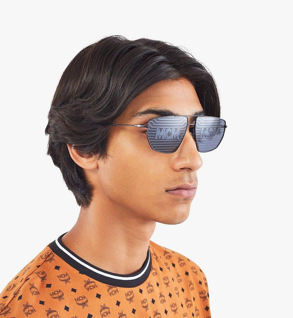 MCM 151S Hologram Aviator Sunglasses Black MEGAAMM11B2001 Alternate View 2