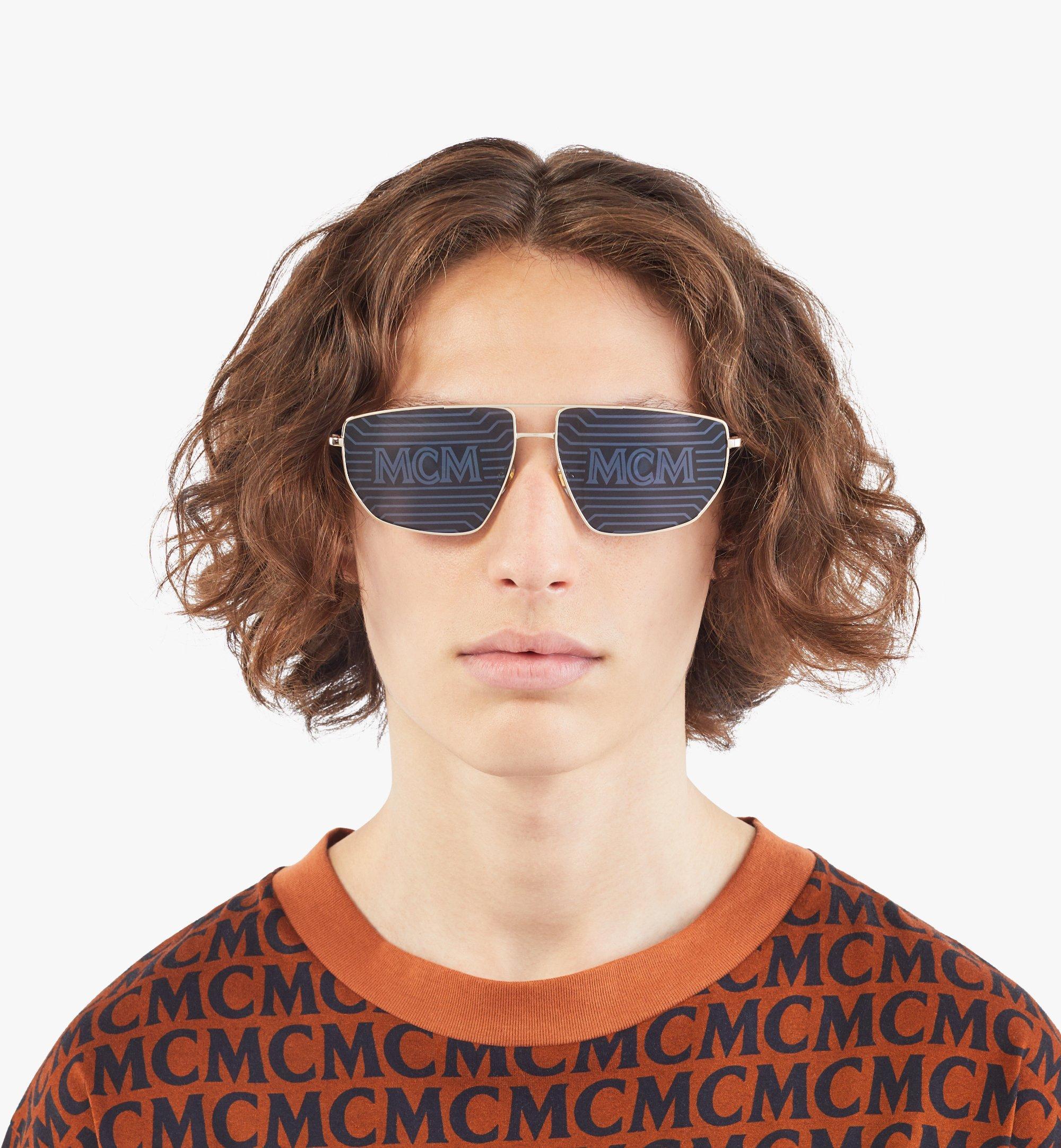 MCM 151S Hologram Aviator Sunglasses Gold MEGAAMM11DG001 Alternate View 3