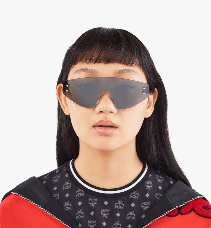 MCM 694S Shield Sunglasses Grey MEGASMM08EG001 Alternate View 4
