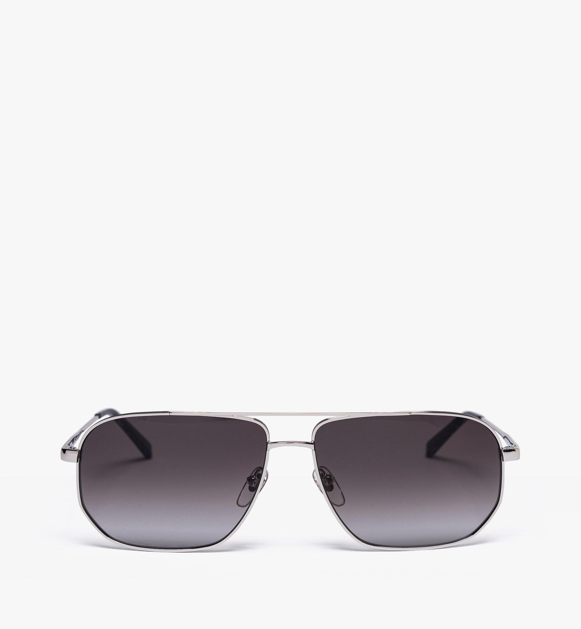 MCM 141S Aviator Sunglasses Grey MEGASMM09ED001 Alternate View 1