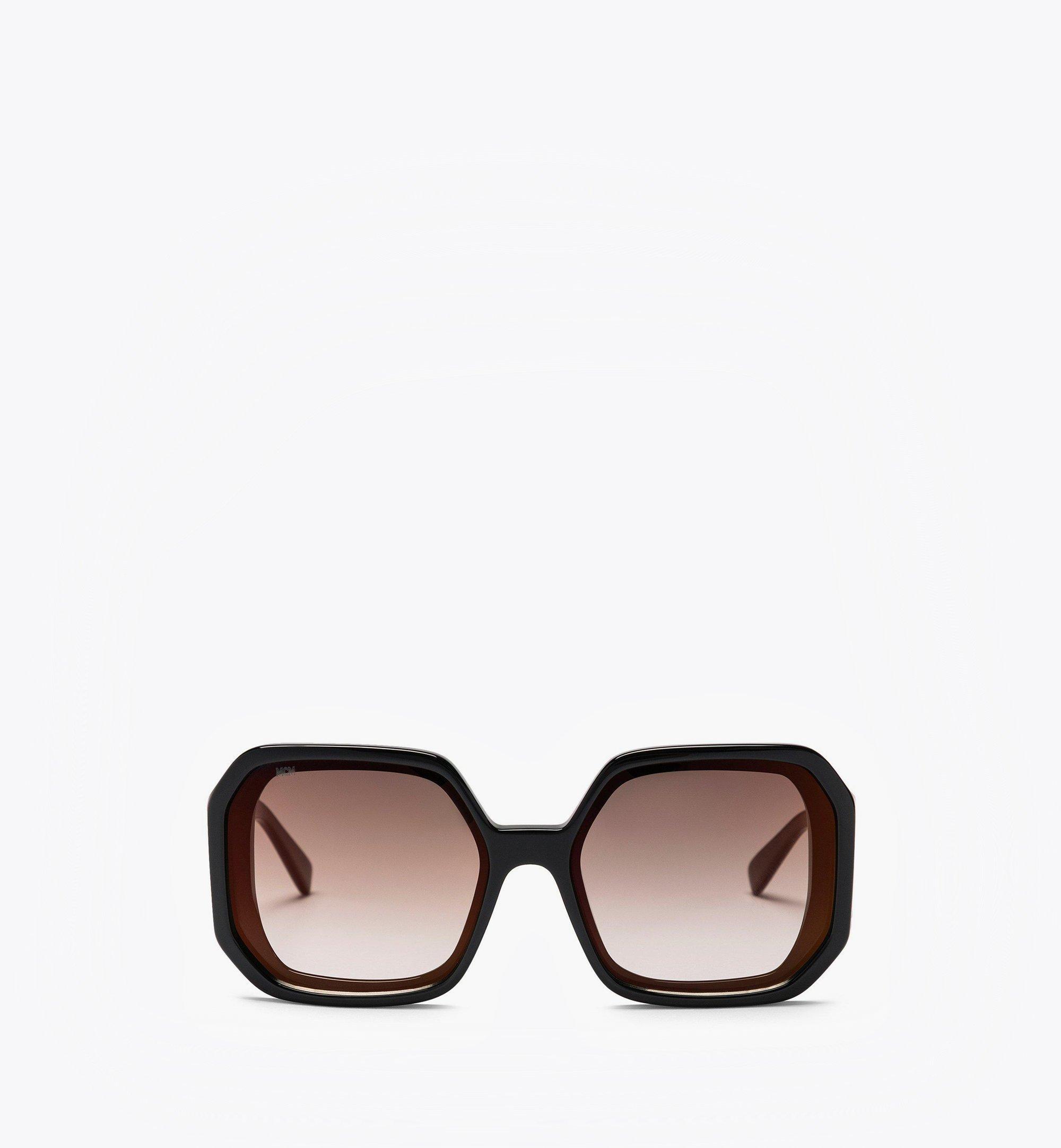 MCM MCM709S Geometric Sunglasses Black MEGBAMM05BK001 Alternate View 1