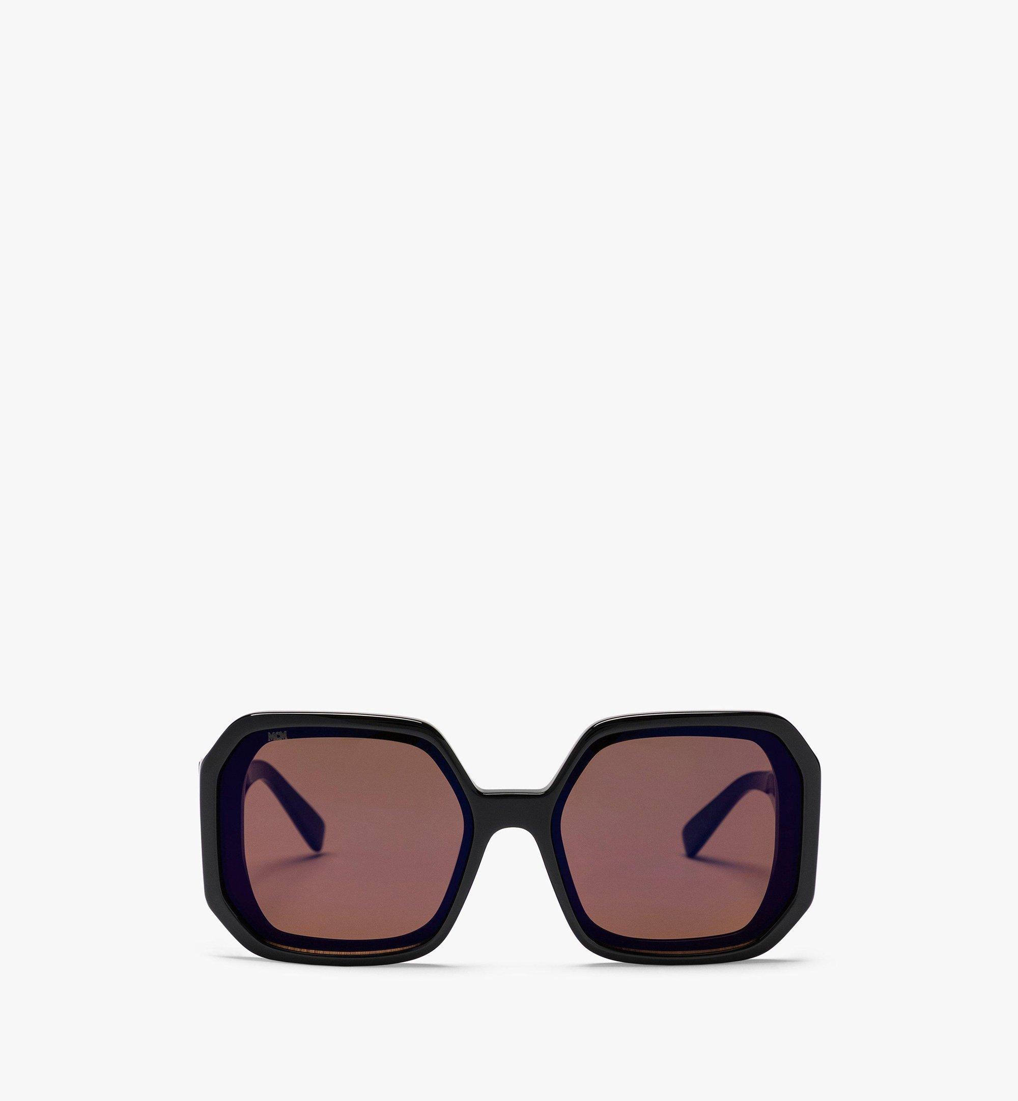 MCM MCM709S Geometric Sunglasses Black MEGBAMM05BW001 Alternate View 1