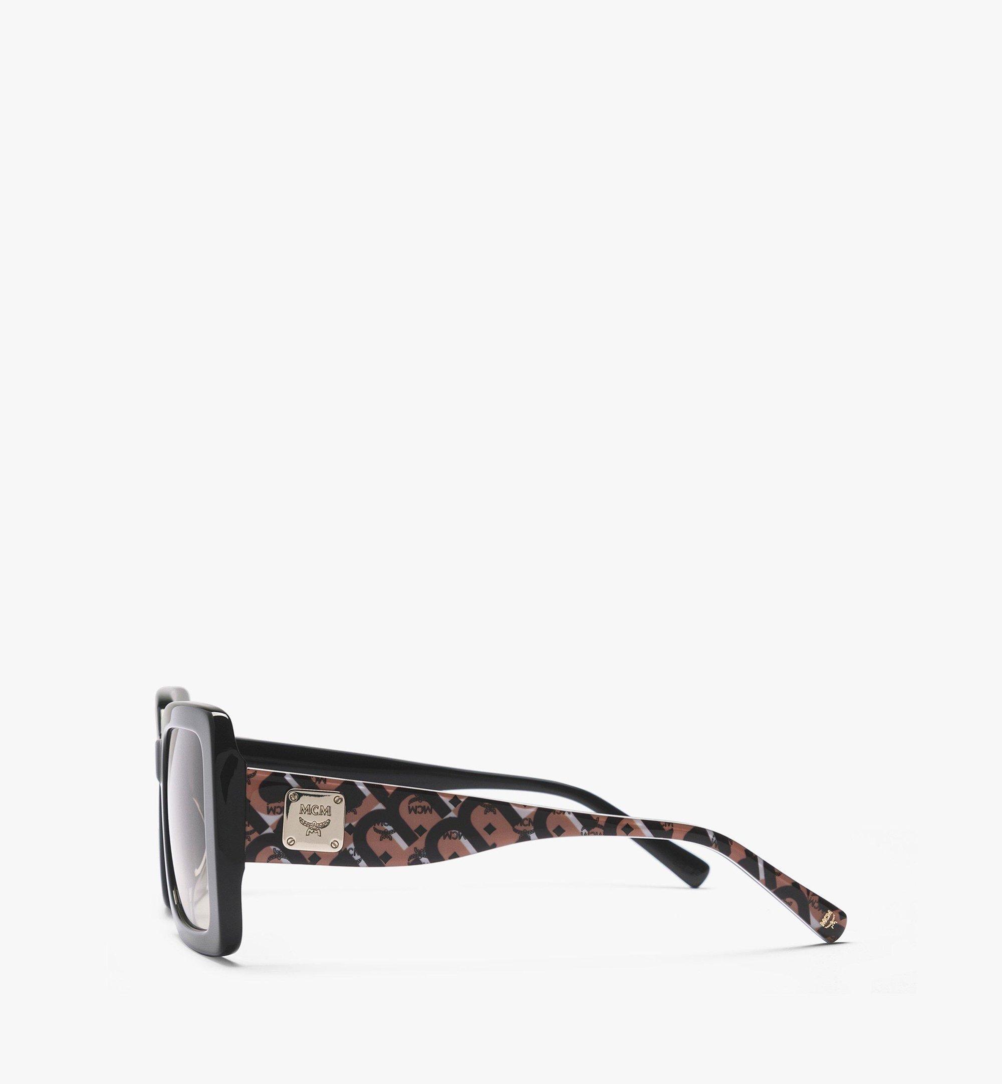 MCM MCM711S Rectangular Sunglasses Black MEGBAMM07BK001 Alternate View 1
