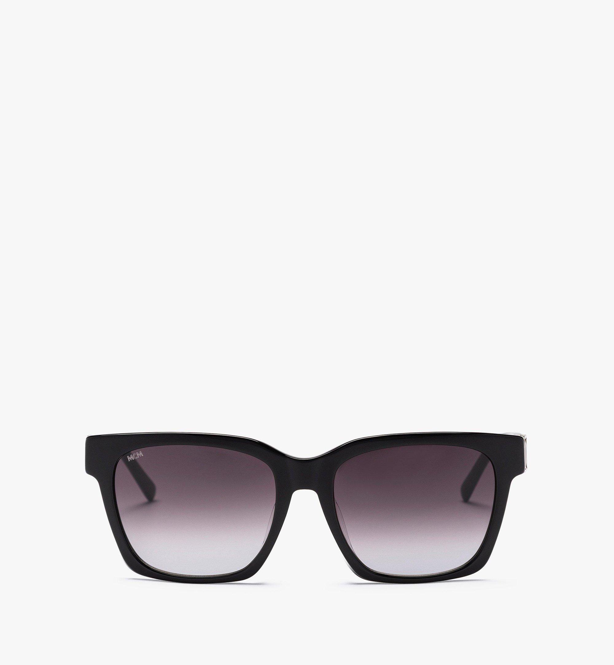 MCM MCM713SA Rectangular Sunglasses Black MEGBAMM09BK001 Alternate View 1