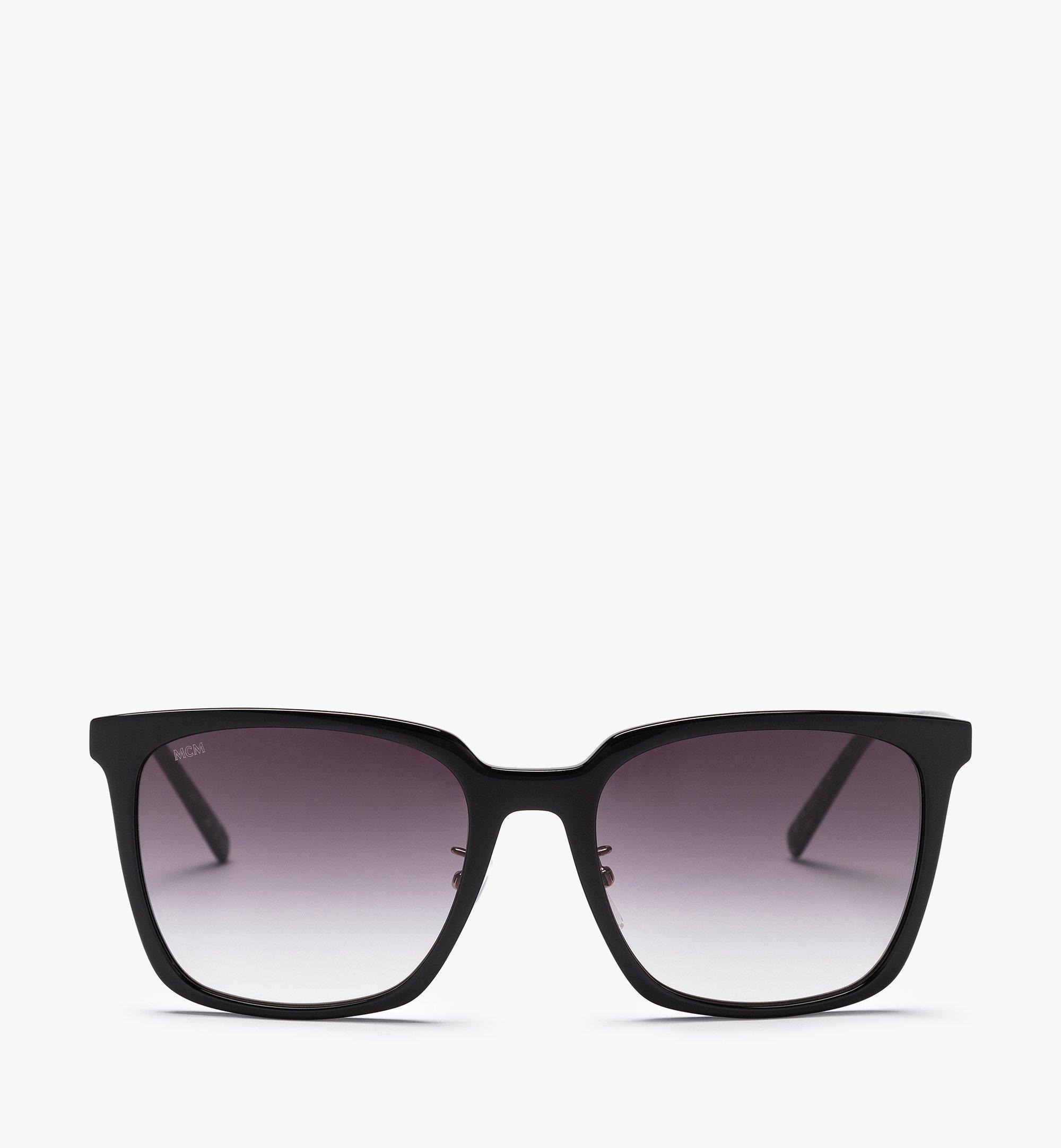 MCM MCM714SA Rectangular Sunglasses Black MEGBAMM10BK001 Alternate View 1
