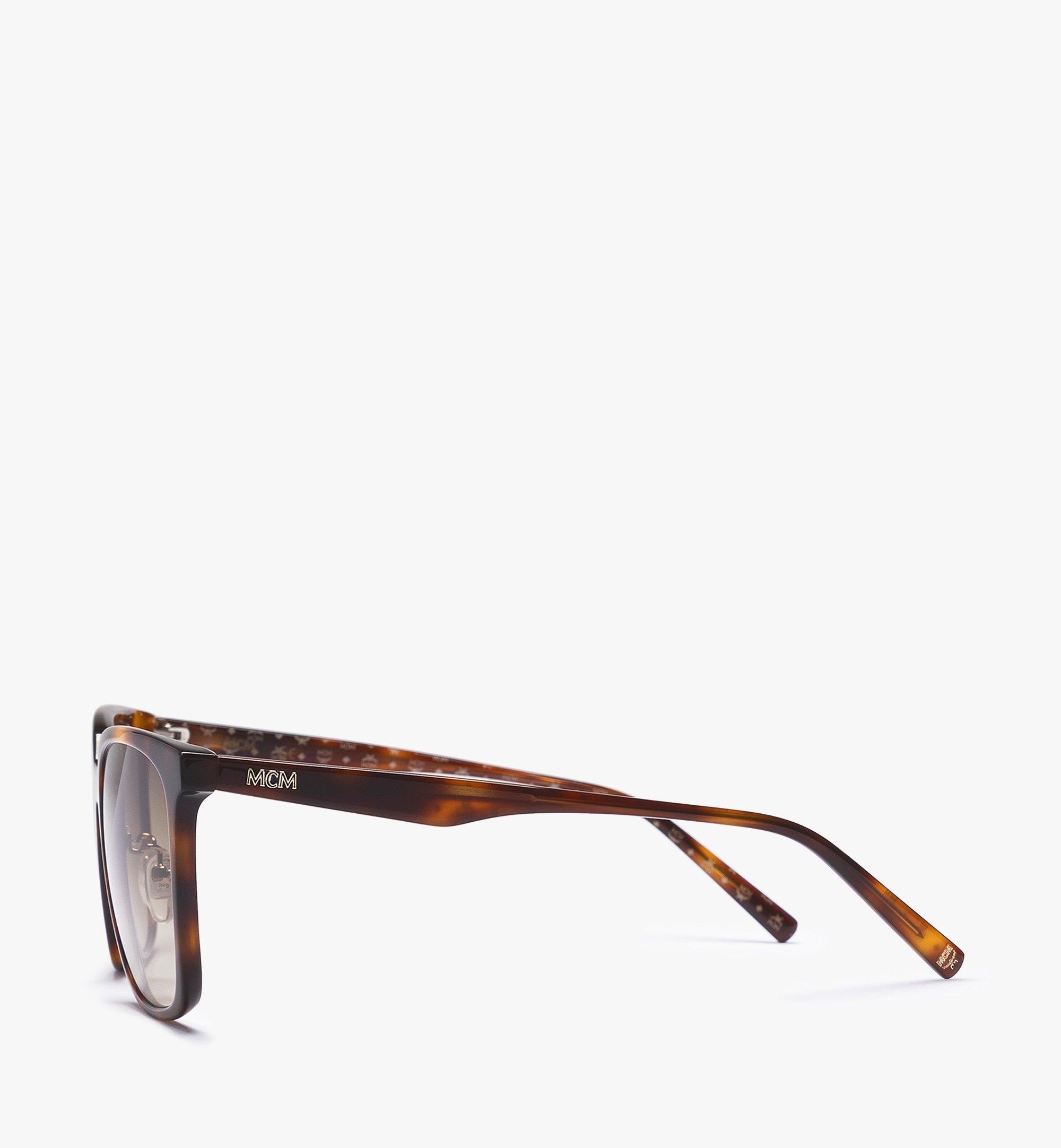 MCM MCM714SA Rectangular Sunglasses Brown MEGBAMM10N3001 Alternate View 1