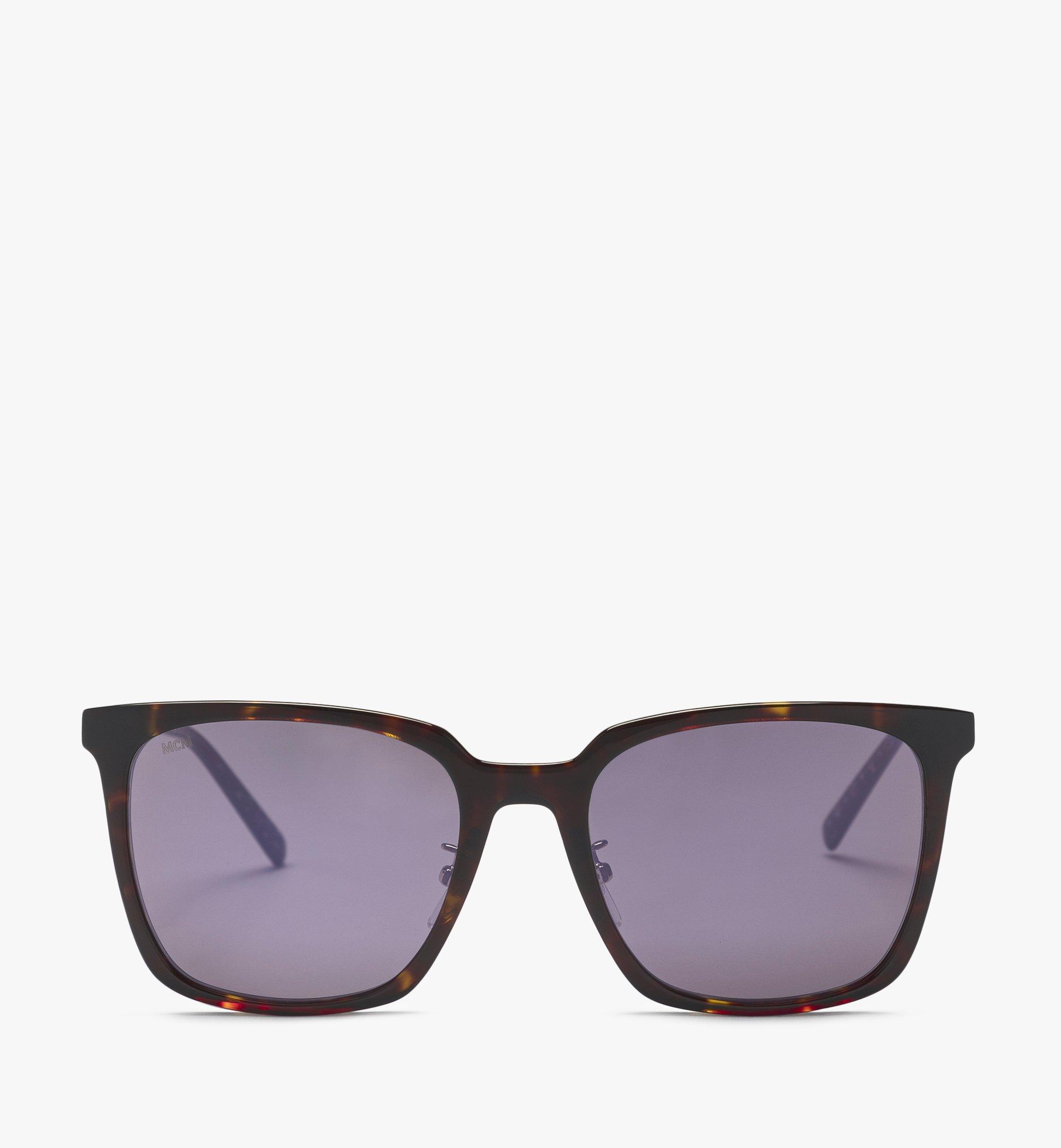 MCM MCM714SA Rectangular Sunglasses Brown MEGBAMM10NQ001 Alternate View 1