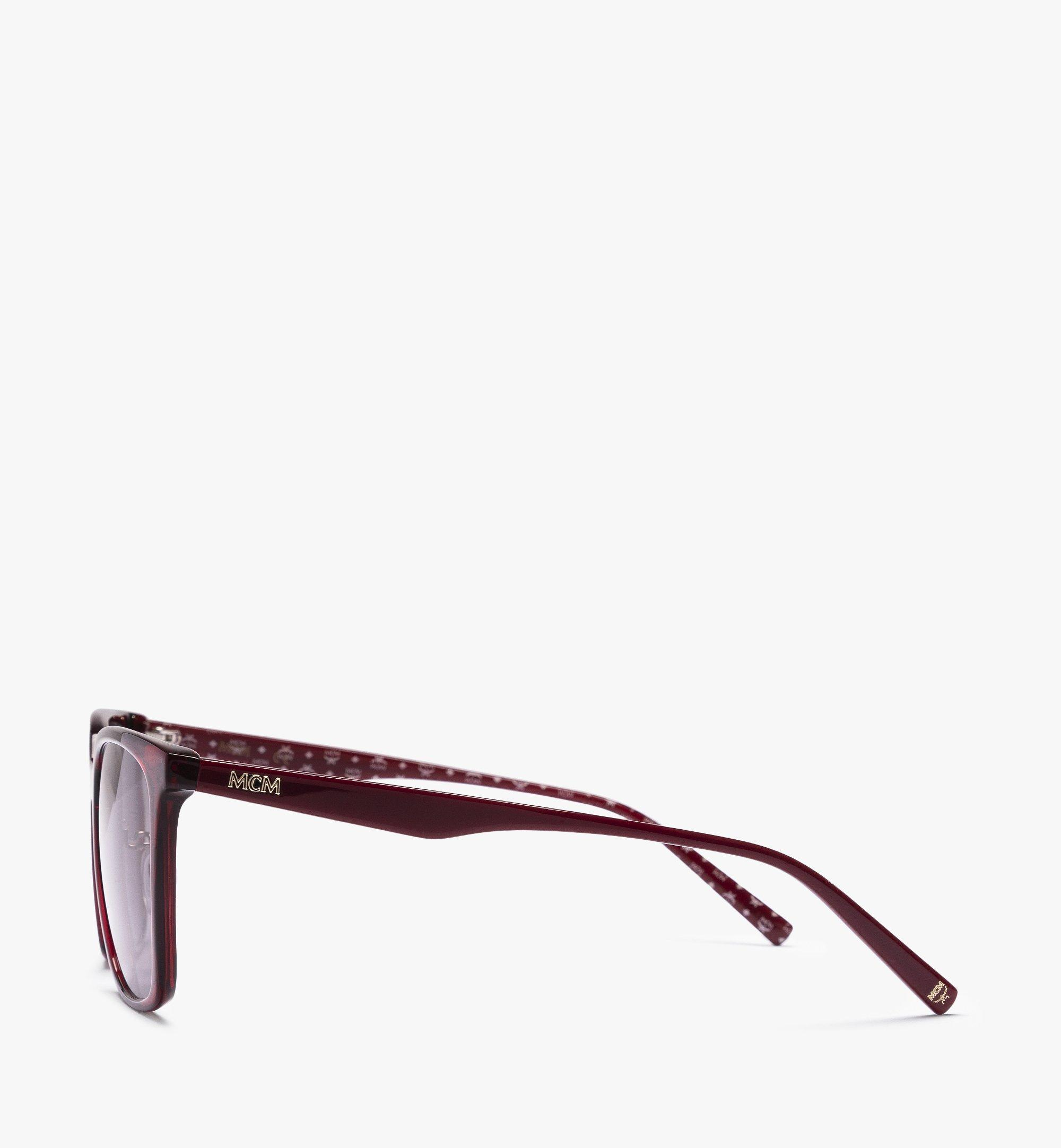 MCM MCM714SA Rectangular Sunglasses Red MEGBAMM10RB001 Alternate View 1