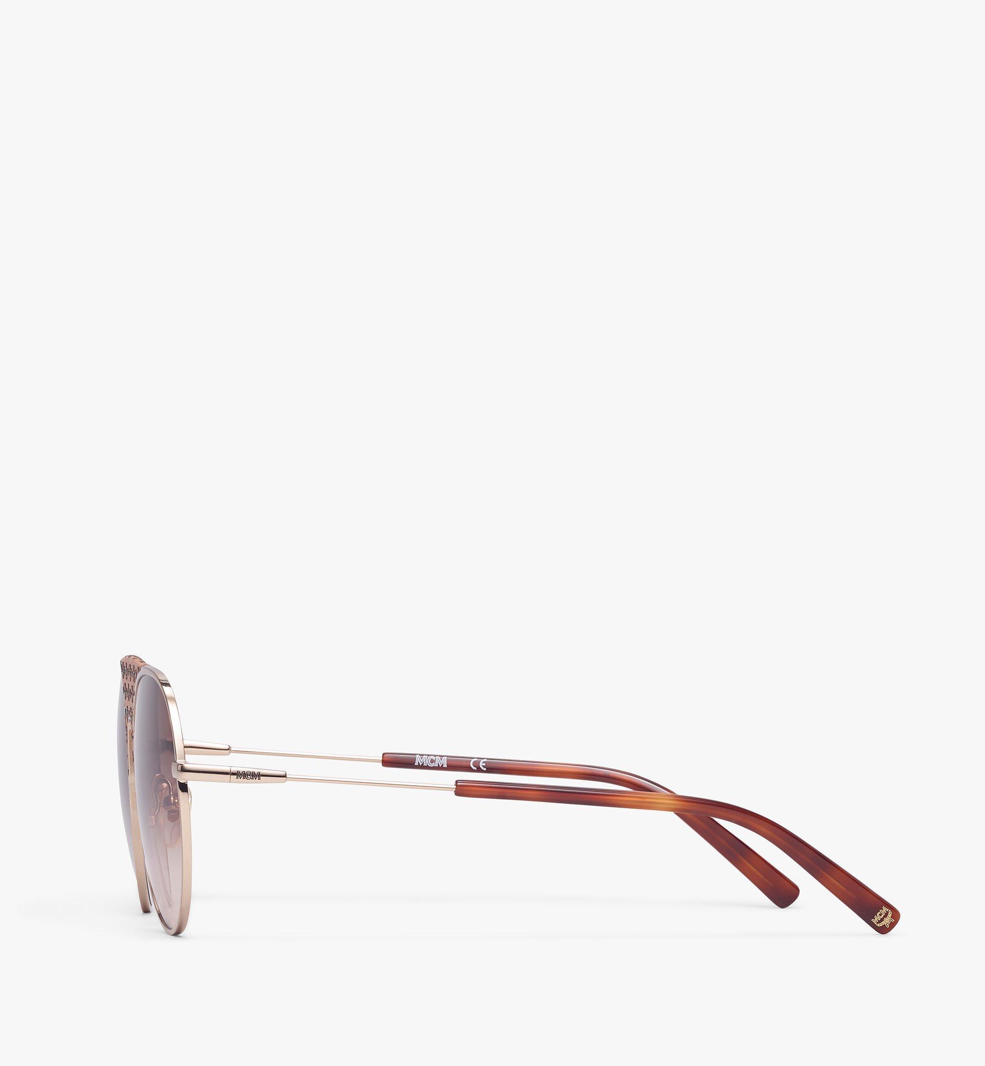 MCM 150SL Aviator Sunglasses Cognac MEGBSMM16CO001 Alternate View 1