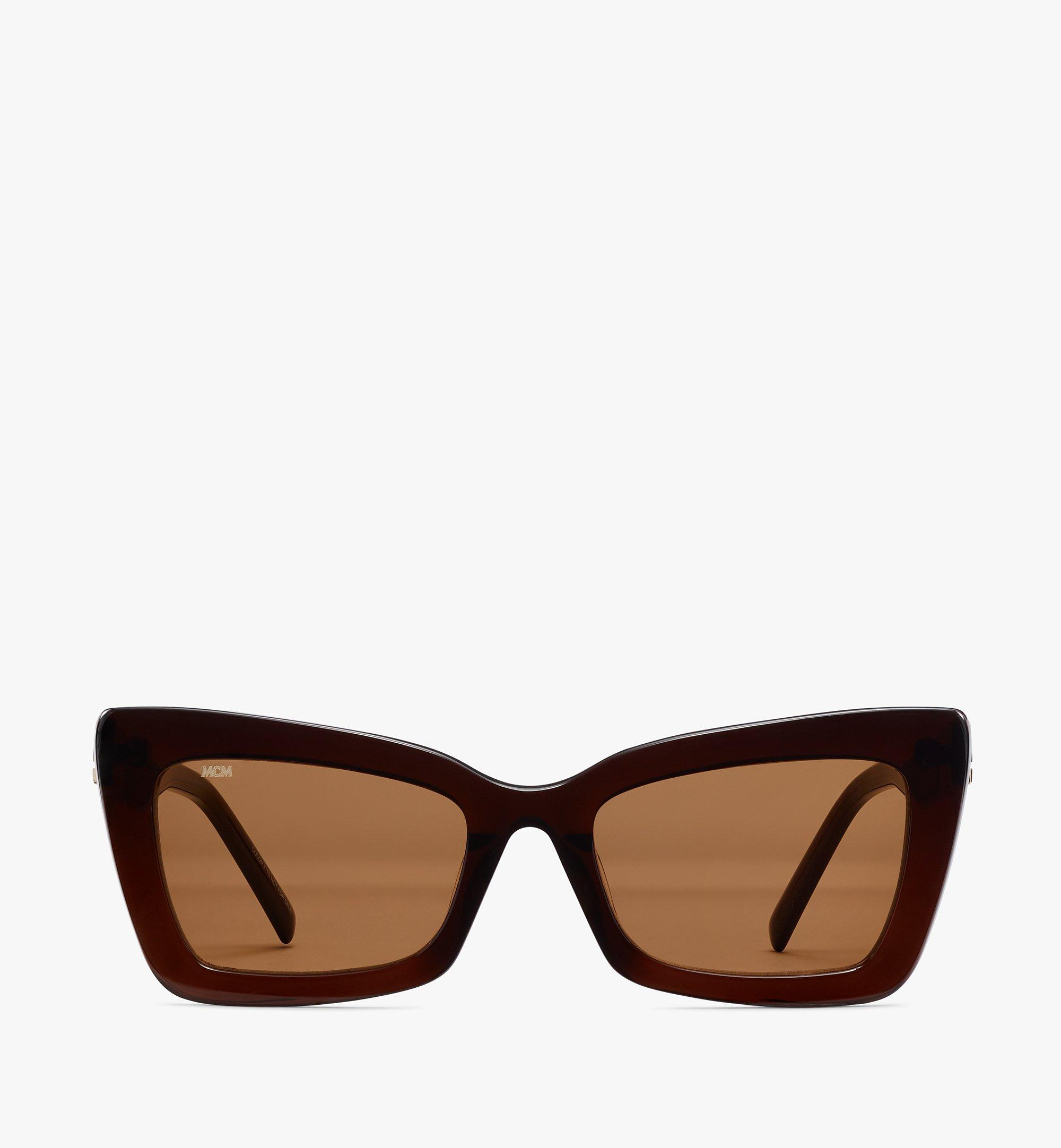 MCM 703S Rectangular Sunglasses Brown MEGBSMM20NR001 Alternate View 1