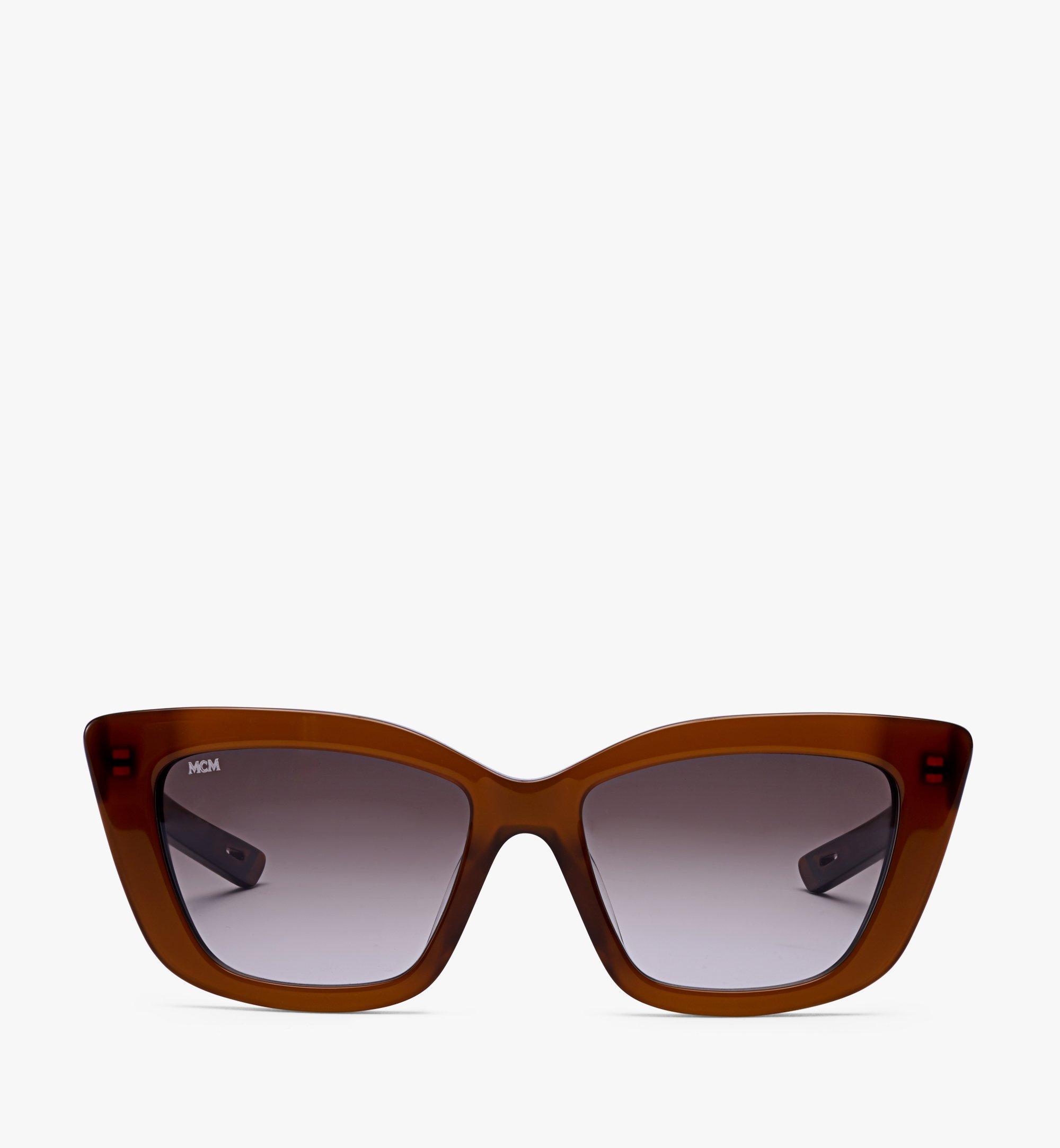 MCM 704SL Rectangular Sunglasses Brown MEGBSMM24NR001 Alternate View 1