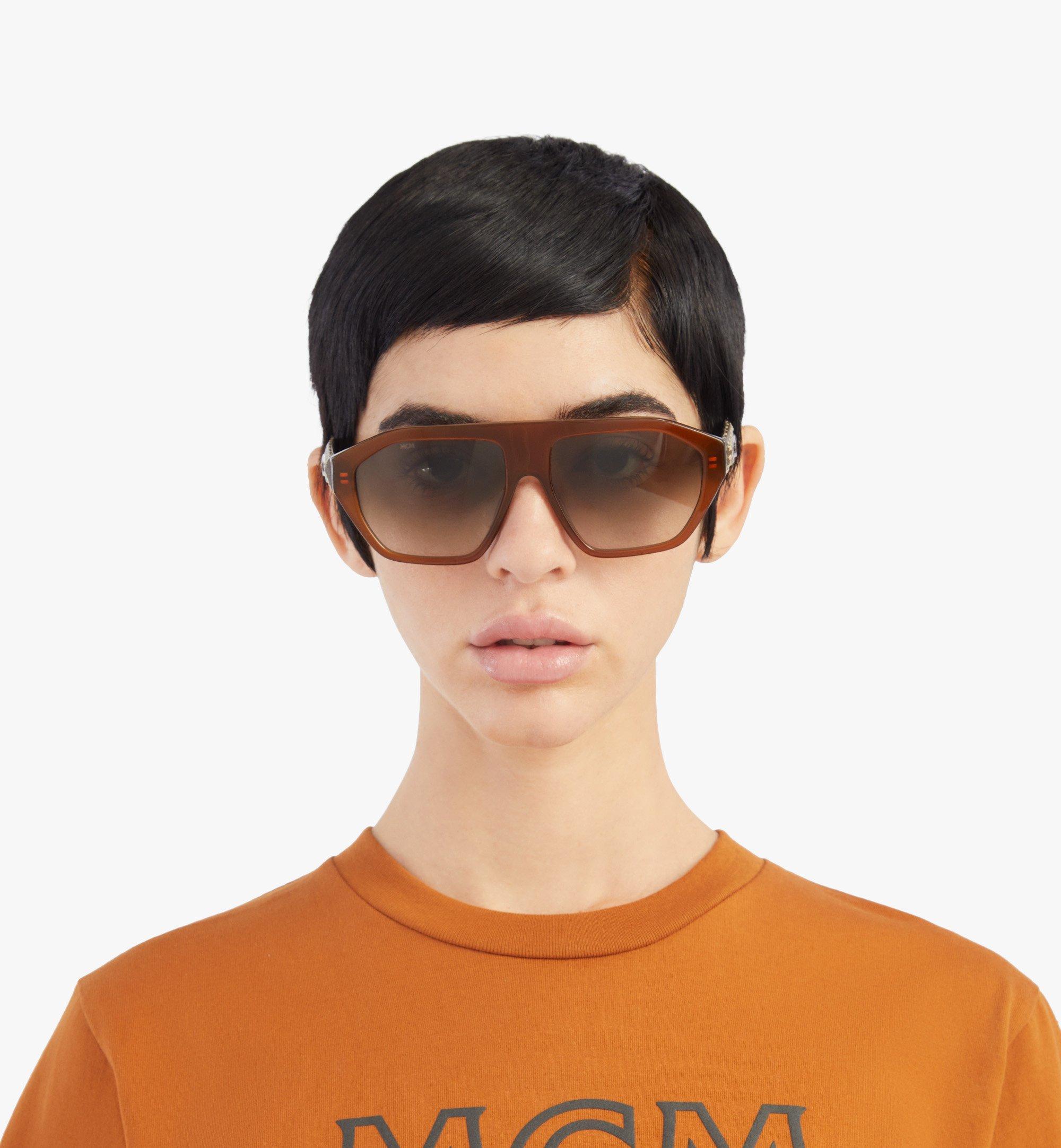 MCM 705SL Sunglasses Brown MEGBSMM25NR001 Alternate View 2