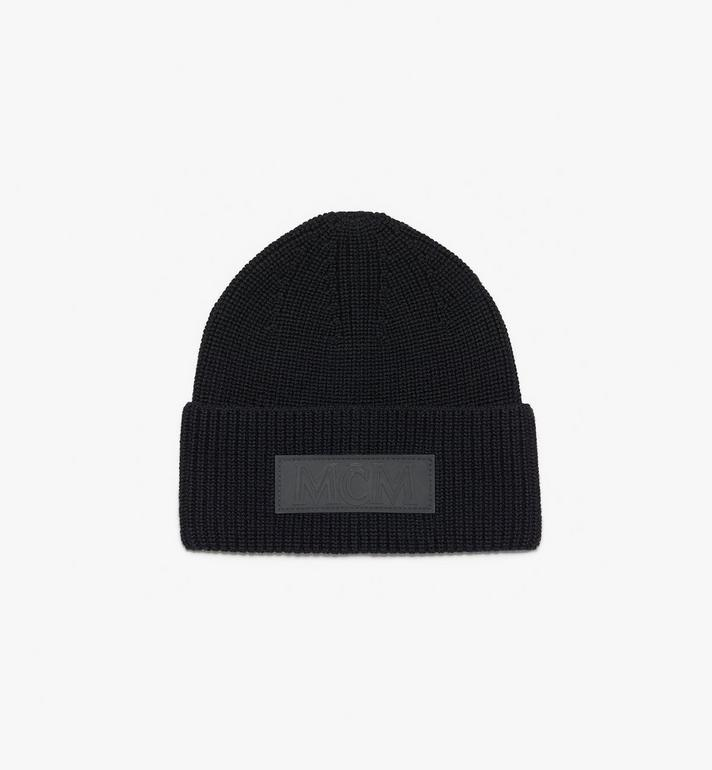 MCM Logo Patch Wool Beanie Alternate View 2