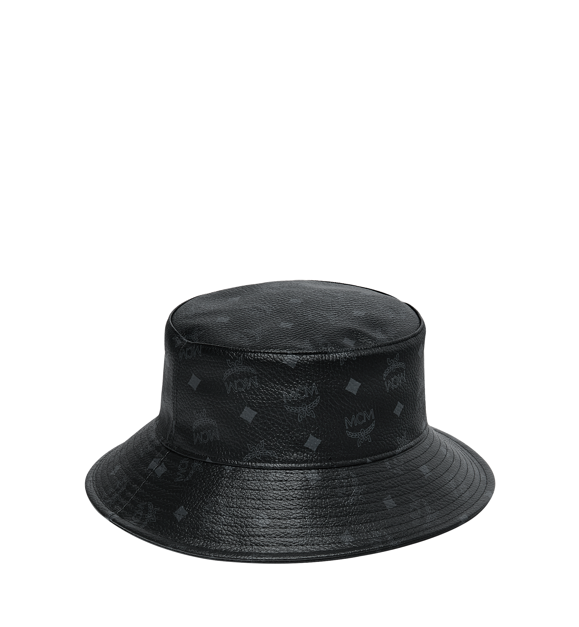 MCM Bucket Hat in Visetos Black MEH9S2K03BK001 Alternate View 1