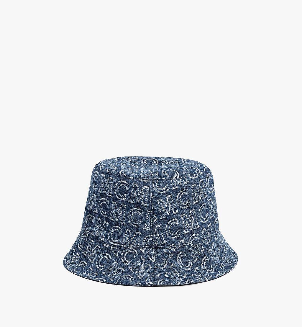 MCM Bucket Hat in Monogram Denim Black MEHAADS02VW001 Alternate View 1
