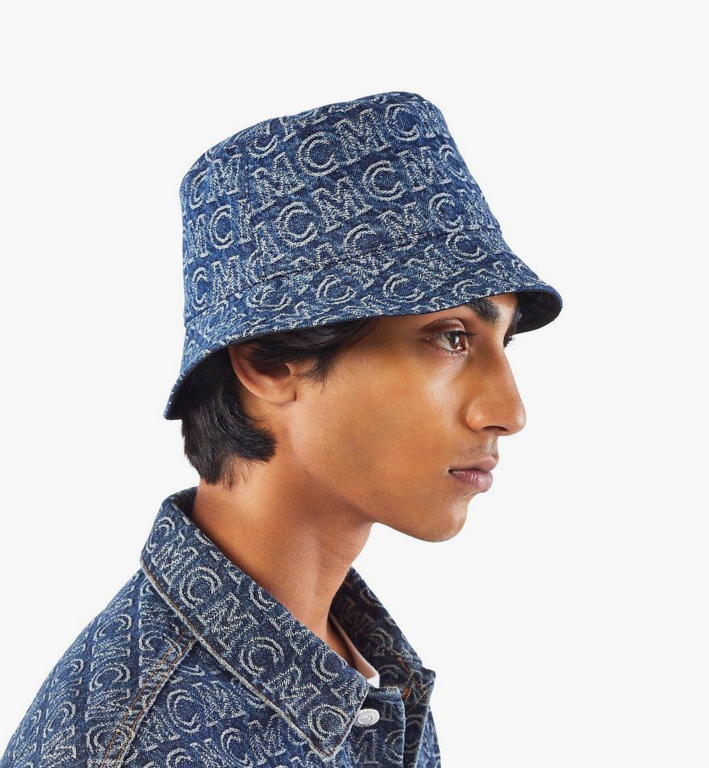MCM Bucket Hat in Monogram Denim Black MEHAADS02VW001 Alternate View 4