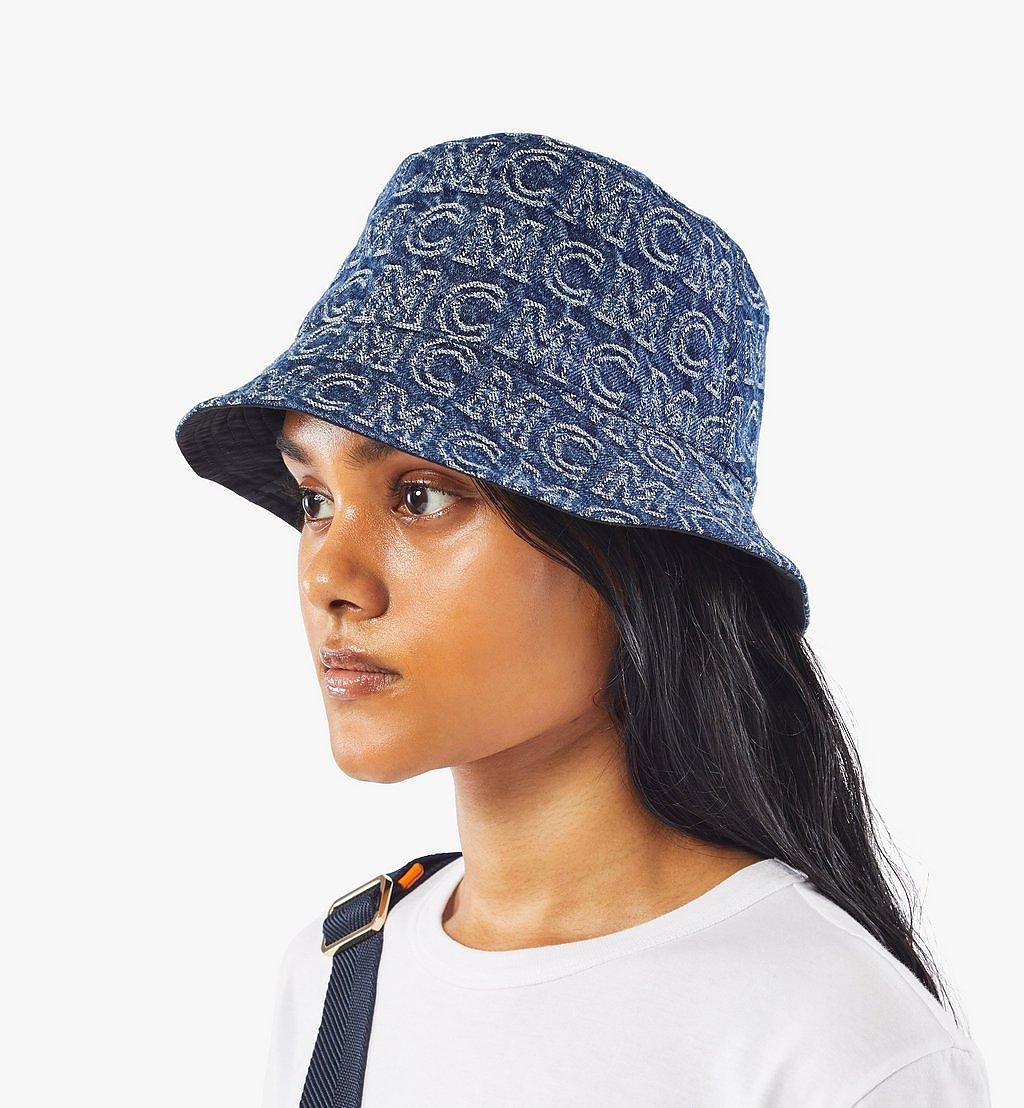 MCM Bucket Hat in Monogram Denim Black MEHAADS02VW001 Alternate View 6