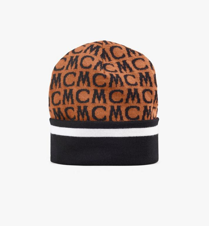 MCM MCM Monogram Wool Beanie Alternate View