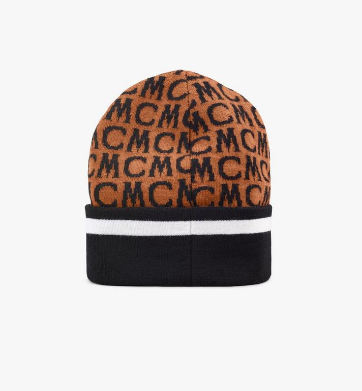 MCM MCM Monogram Wool Beanie Pink MEHAAMD01C4001 Alternate View 2