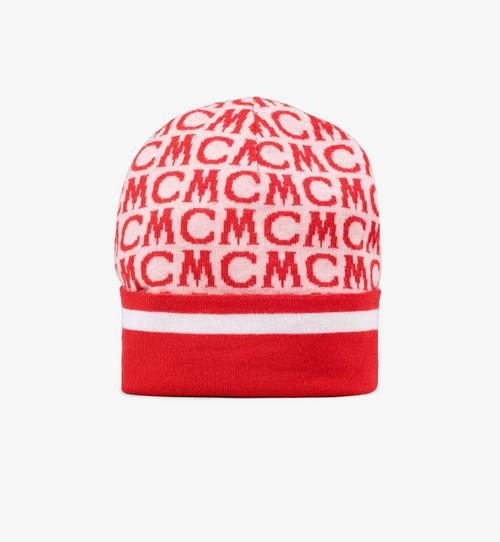 Wollmütze mit MCM-Monogramm