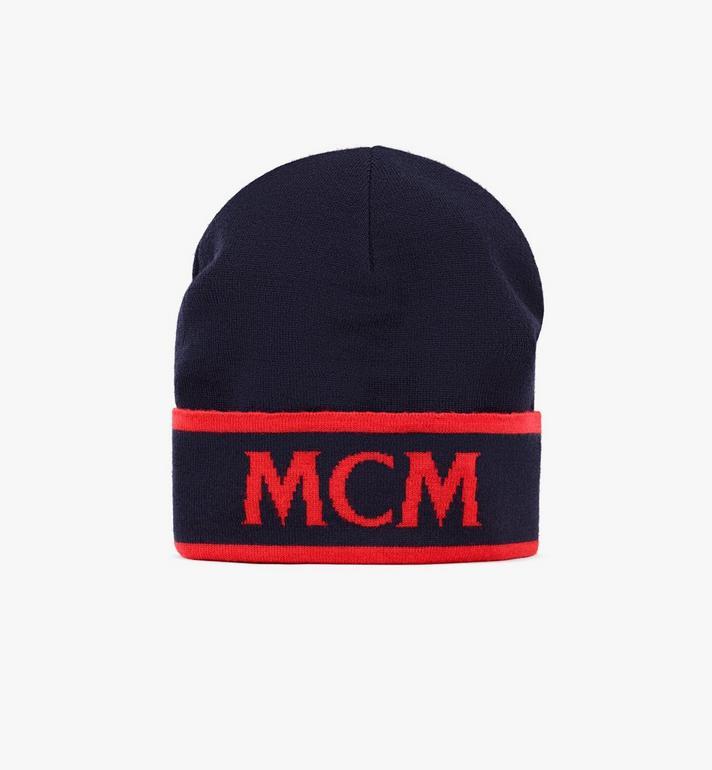 MCM Bonnet en laine à logo contrastant Alternate View