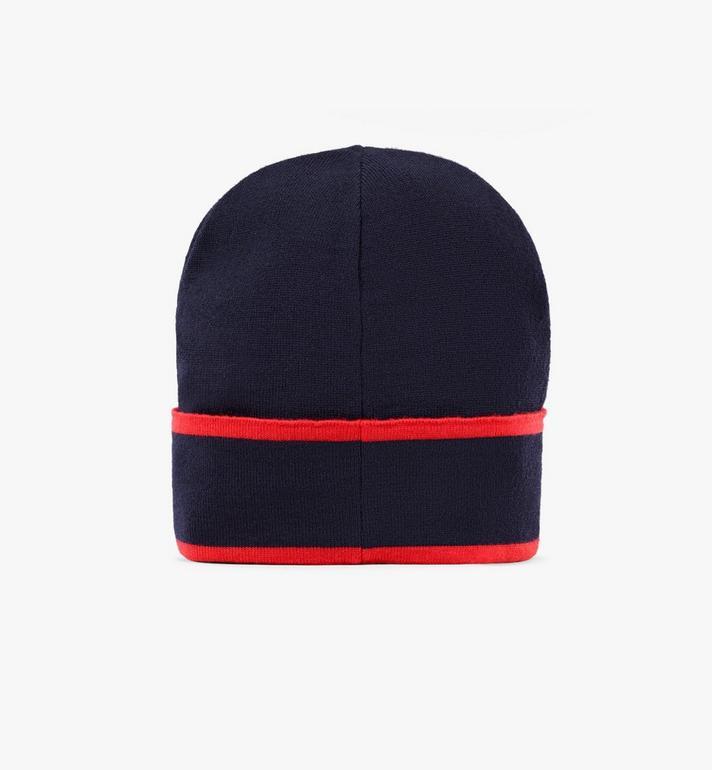 MCM Bonnet en laine à logo contrastant Black MEHAAMD02VU001 Alternate View 2