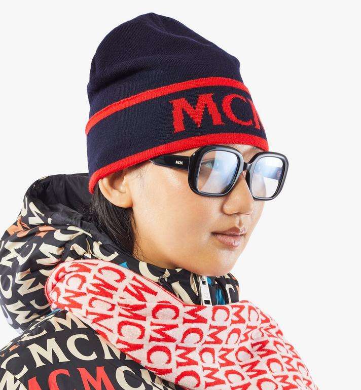 MCM Contrast Logo Wool Beanie Black MEHAAMD02VU001 Alternate View 4