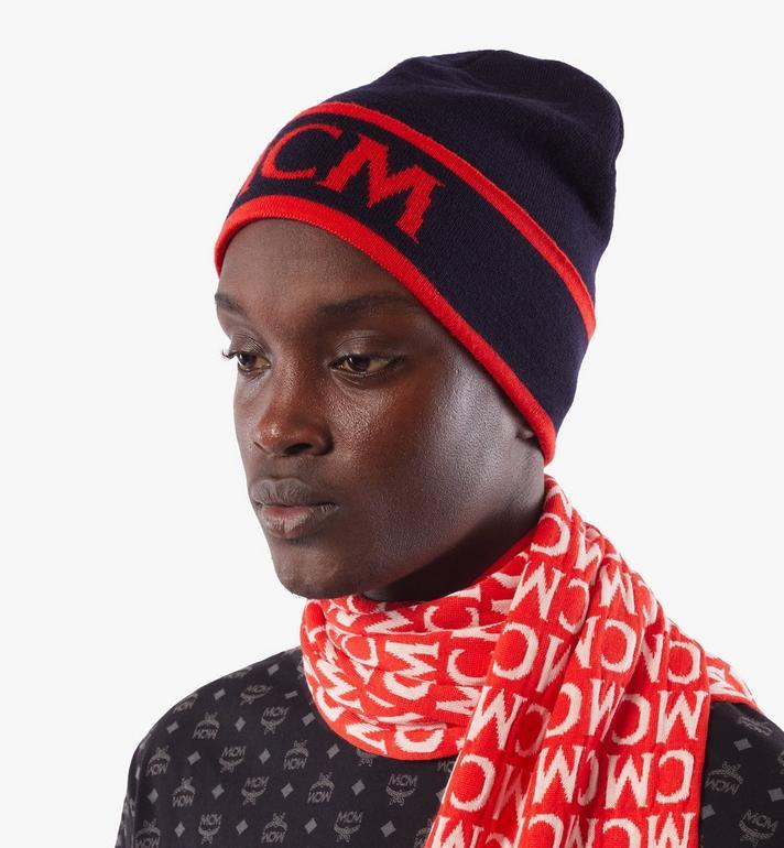 MCM Bonnet en laine à logo contrastant Black MEHAAMD02VU001 Alternate View 6
