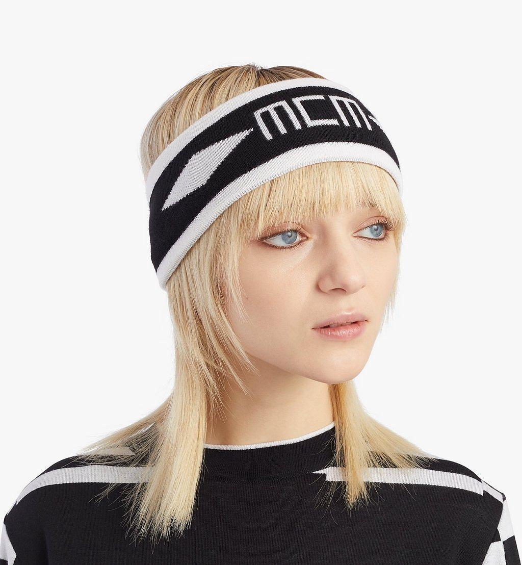 MCM Stirnband Geo Logo mit Intarsie  MEHAAMM01BK001 Noch mehr sehen 2