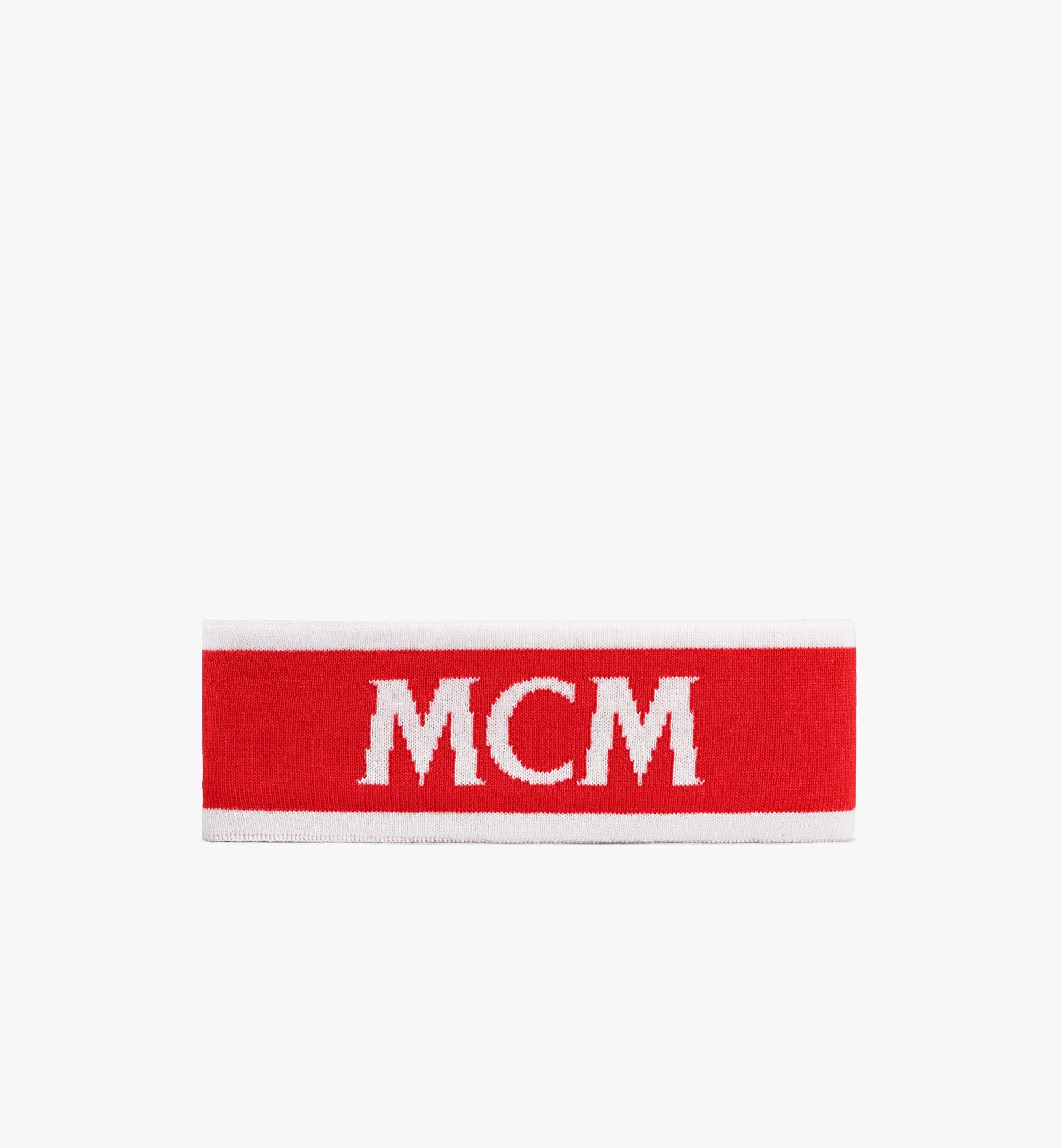 MCM Logo Headband Red MEHAAMM01RP001 Alternate View 1
