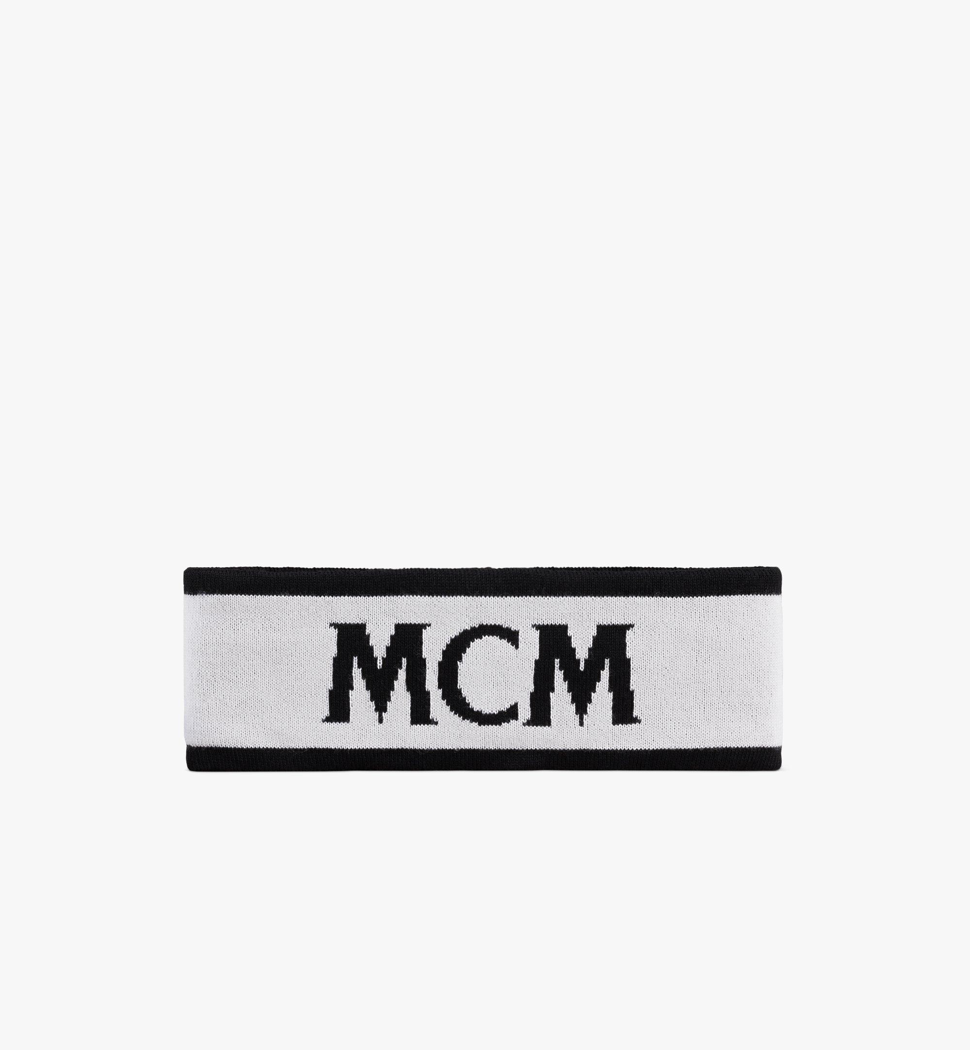 MCM Logo Headband White MEHAAMM01WT001 Alternate View 1