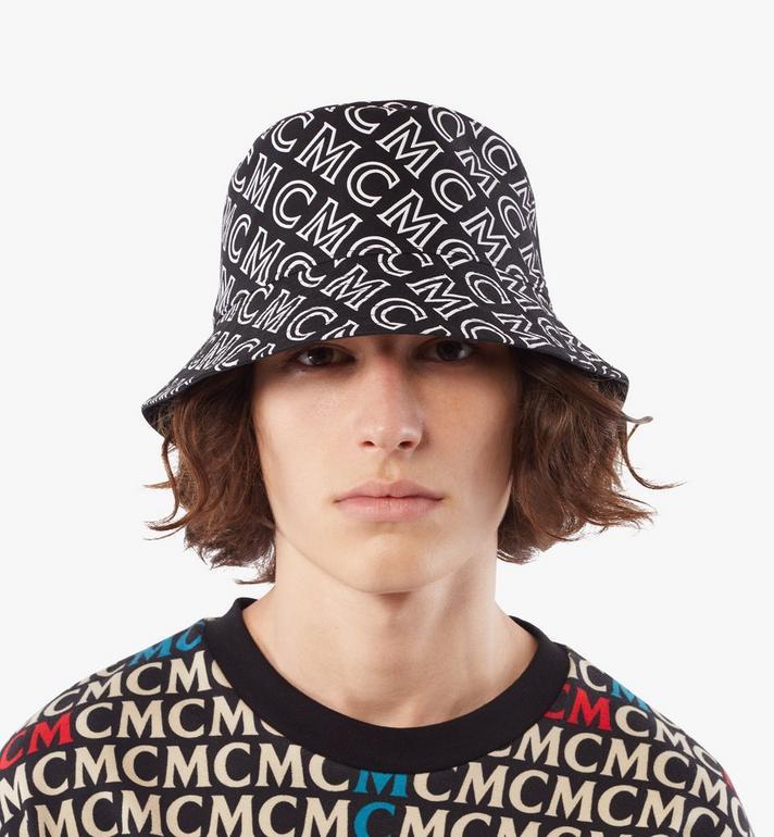 MCM Reversible Monogram Bucket Hat Cognac MEHAAMM03B4001 Alternate View 5