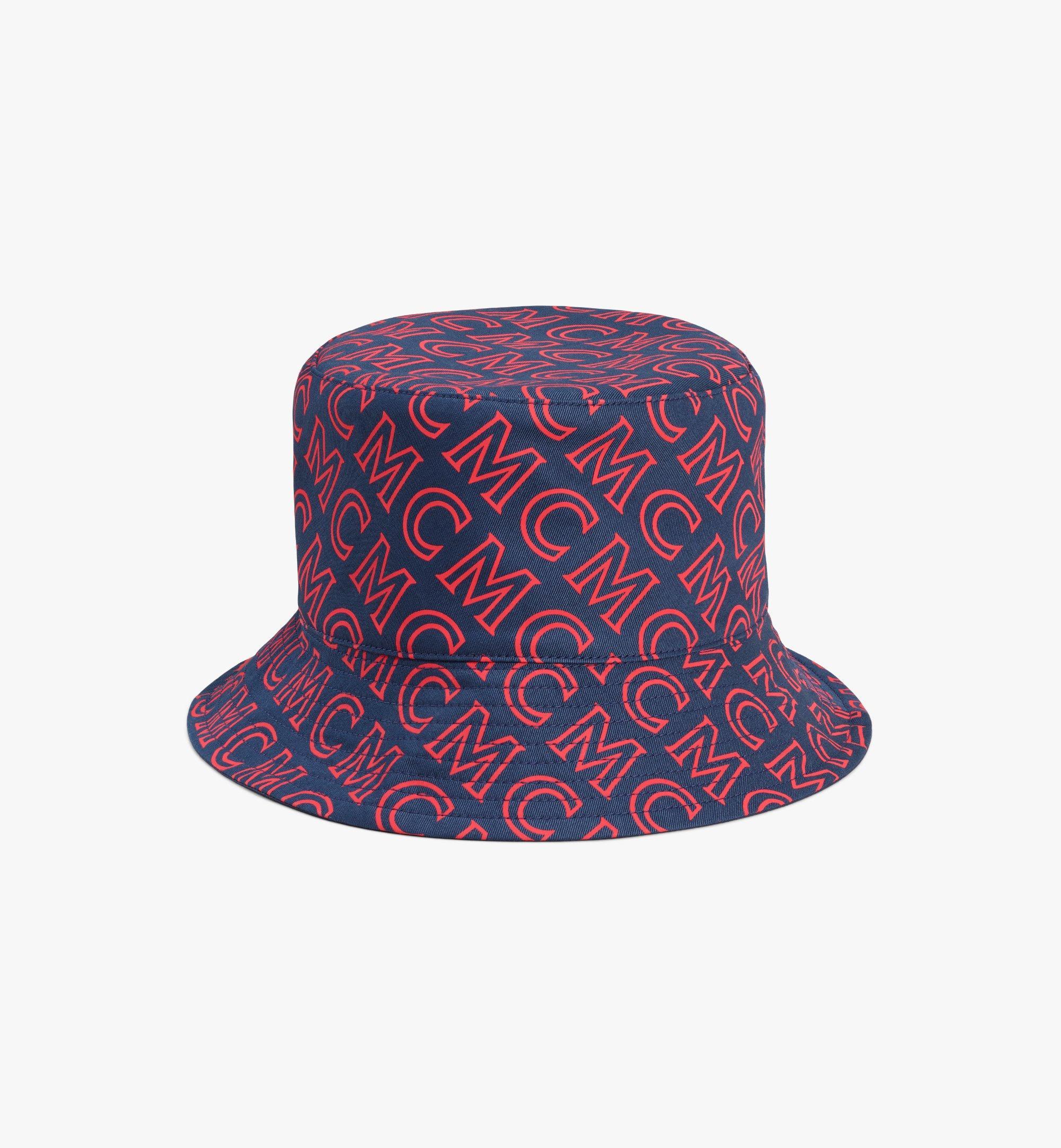 MCM Reversible Monogram Bucket Hat Pink MEHAAMM03VV001 Alternate View 1
