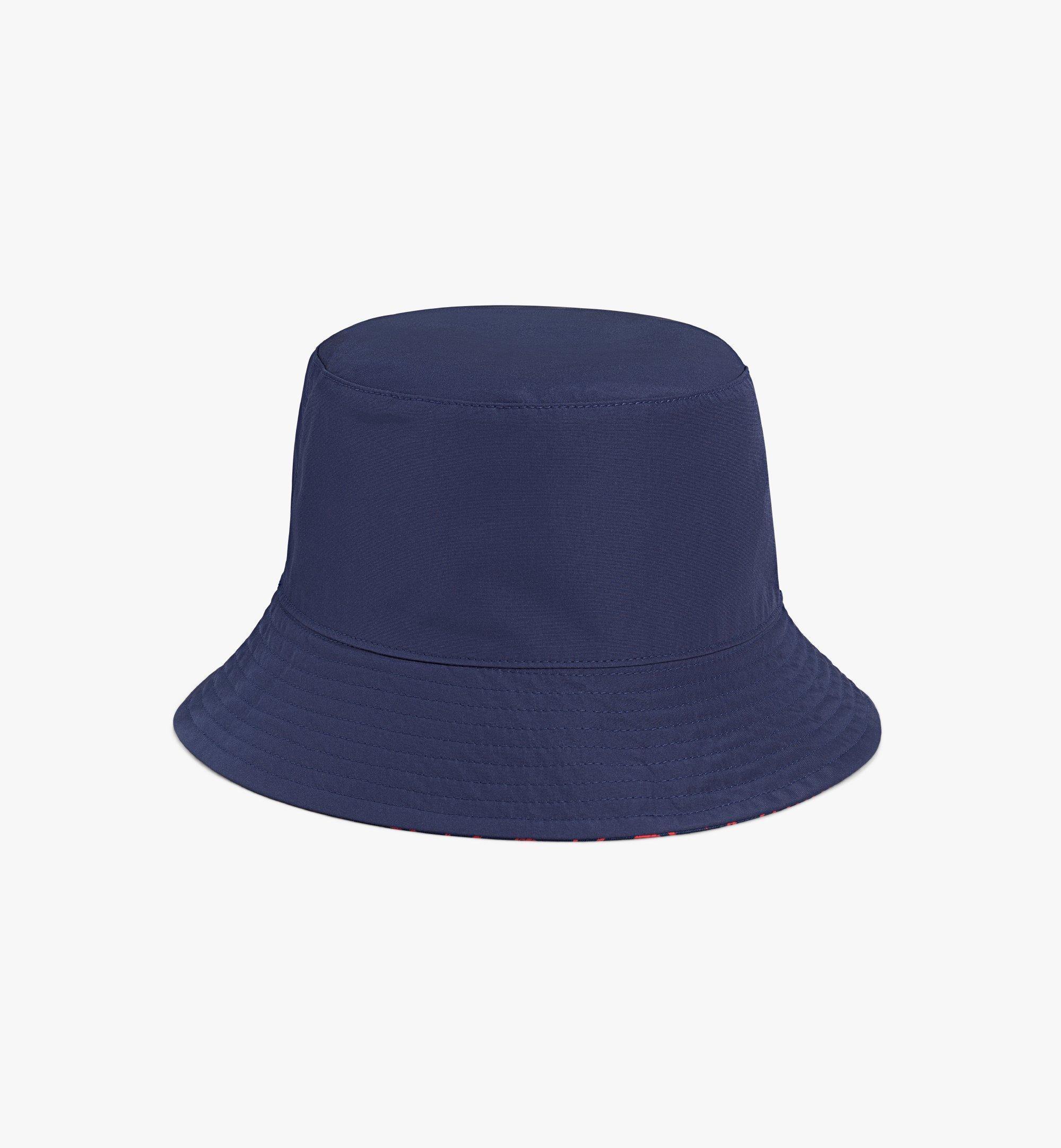 MCM Reversible Monogram Bucket Hat Blue MEHAAMM03VV001 Alternate View 2