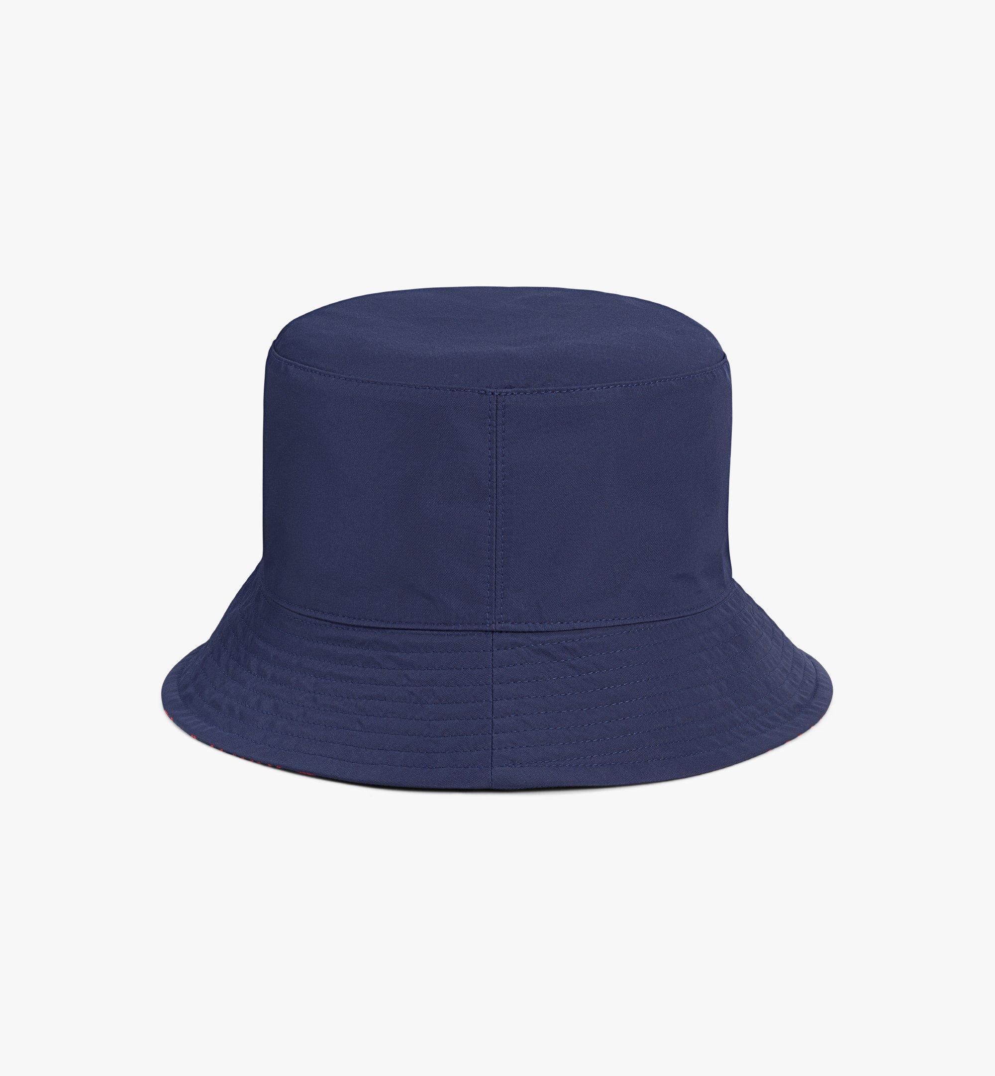 MCM Reversible Monogram Bucket Hat Blue MEHAAMM03VV001 Alternate View 3