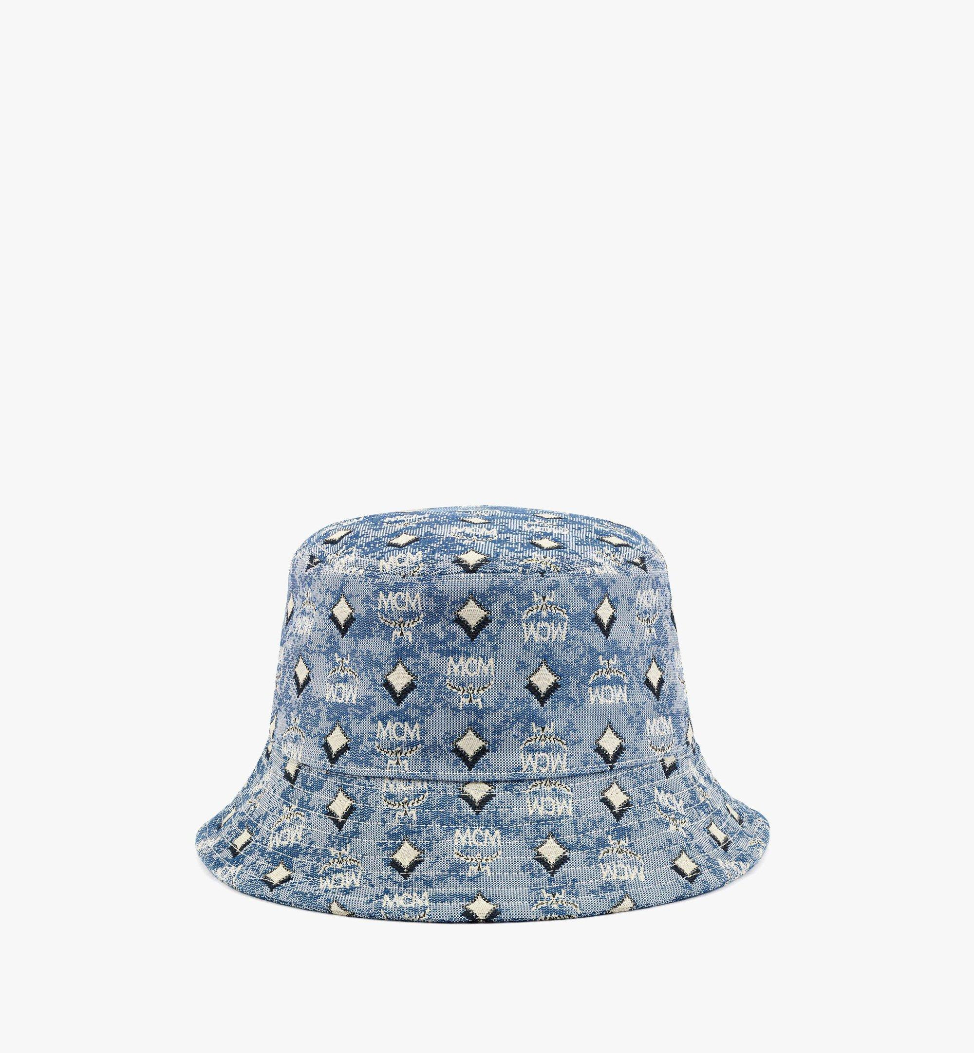 MCM Bucket Hat in Vintage Jacquard Monogram Blue MEHBATQ01LU001 Alternate View 1