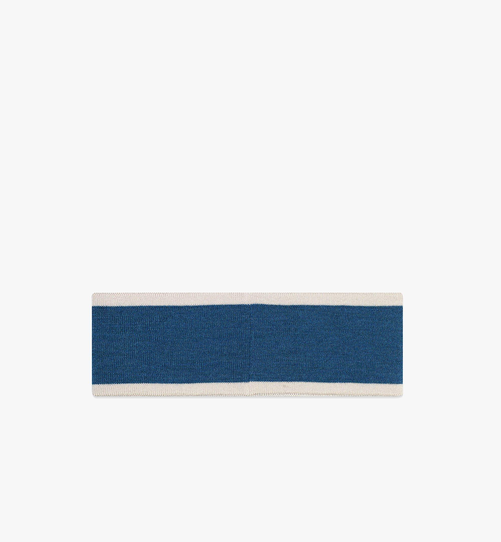 MCM 빈티지 로고 울 헤드밴드 Blue MEHBATQ02LU001 다른 각도 보기 1