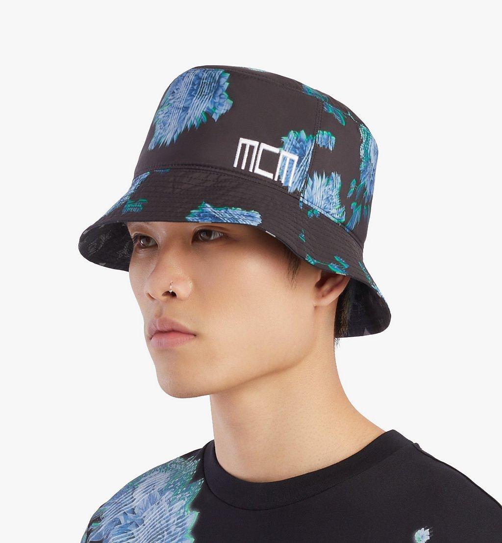 MCM Tech Flower Bucket Hat Black MEHBSSX02B2001 Alternate View 4