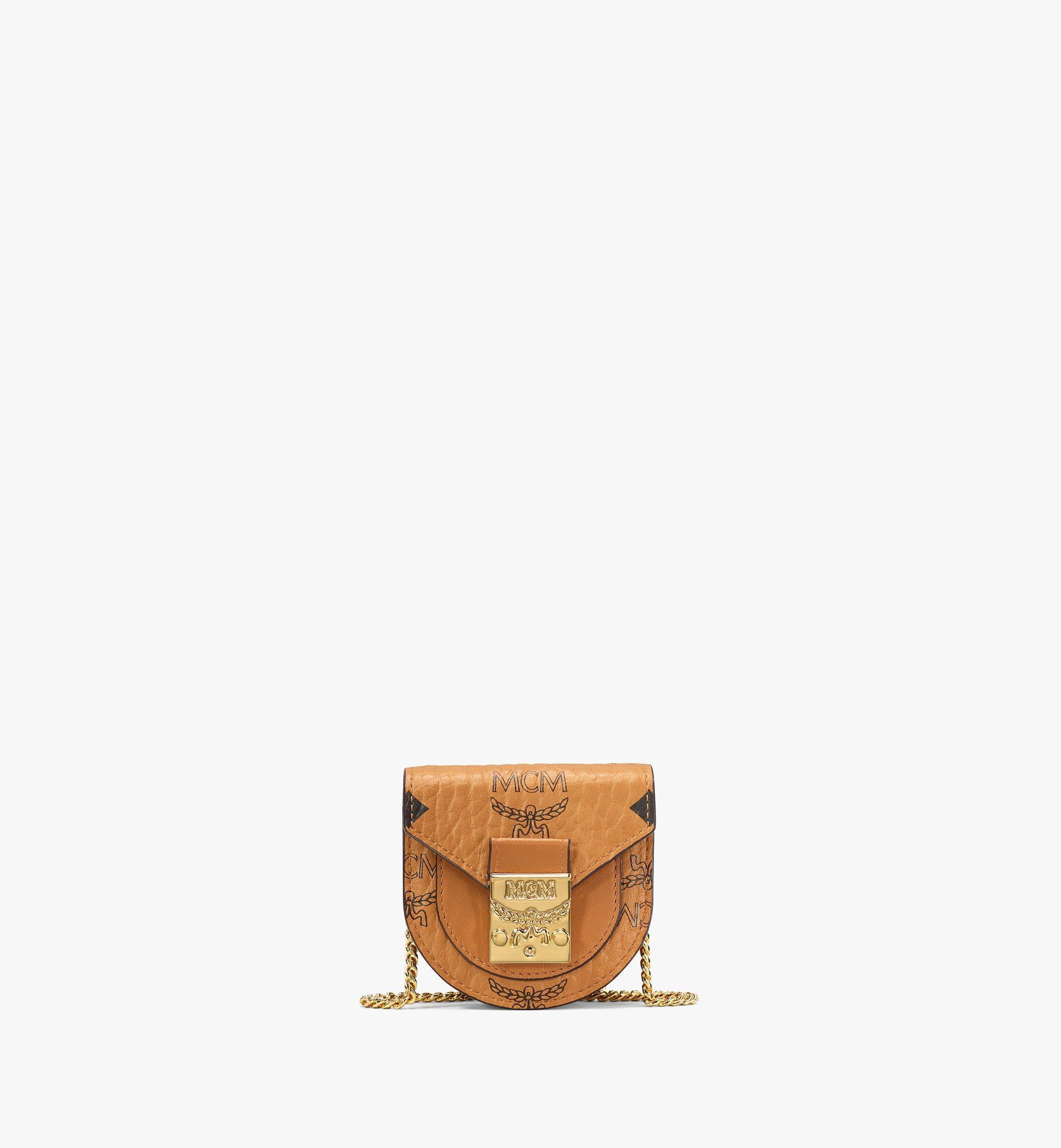 MCM Patricia Bag Bracelet in Visetos Cognac MEJAAMM01CO001 Alternate View 1