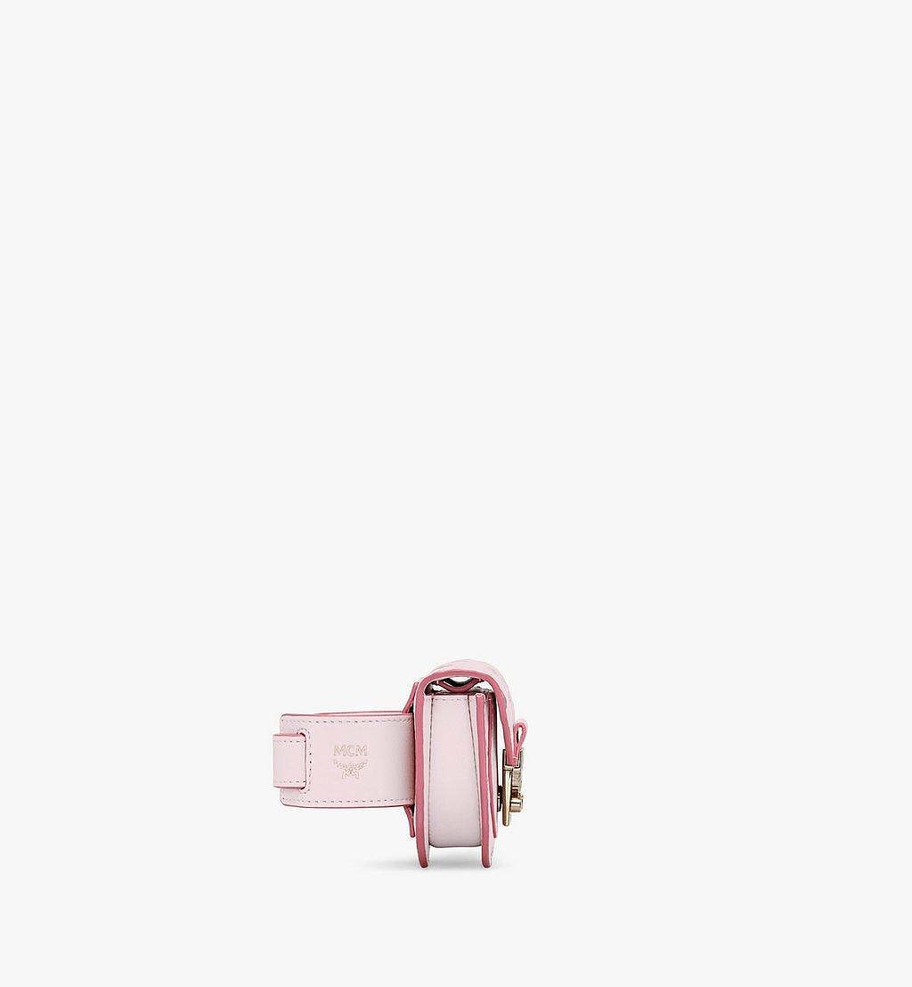 MCM Patricia Bag Bracelet in Visetos Pink MEJAAMM01QH001 Alternate View 1