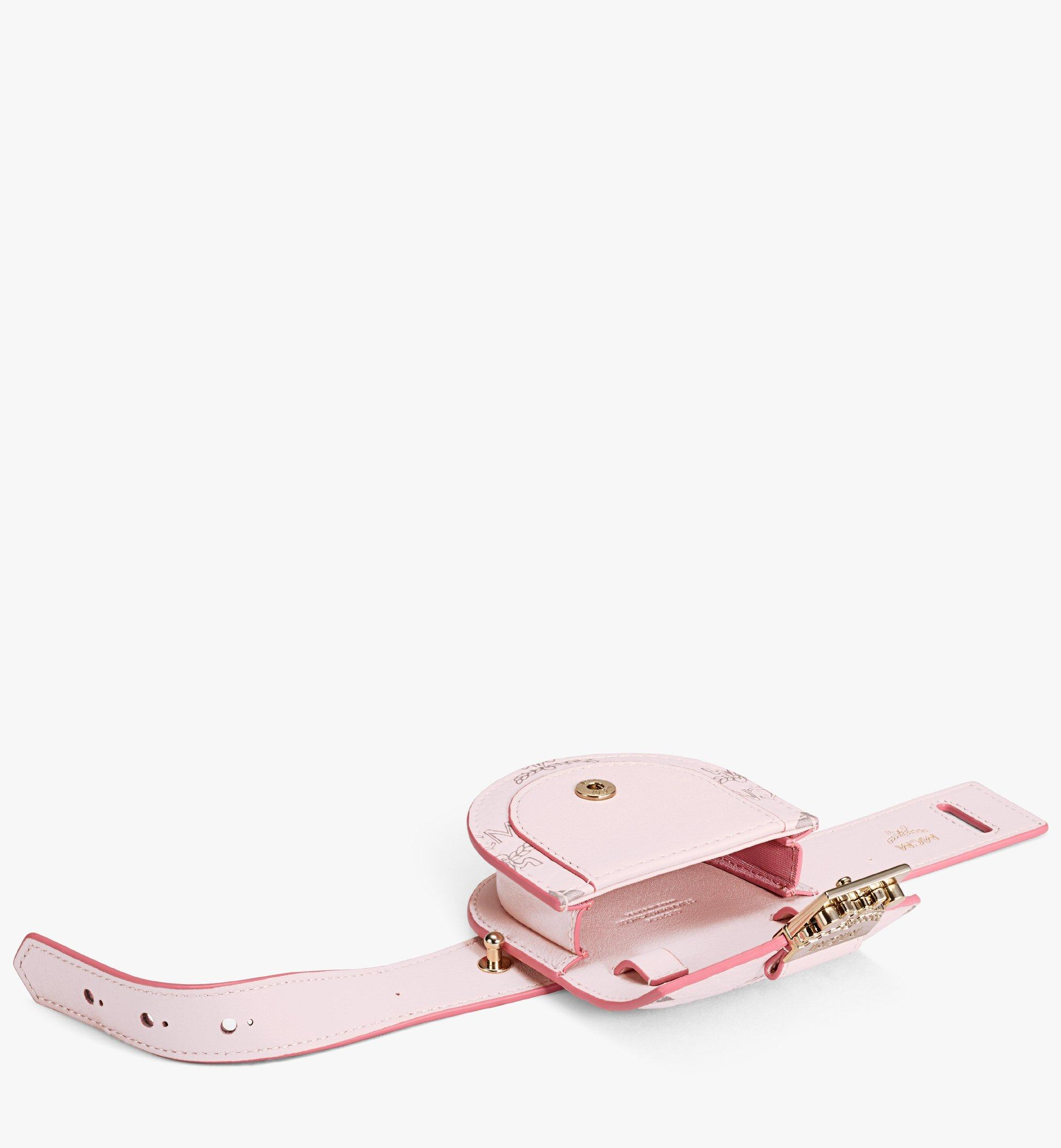MCM Patricia Bag Bracelet in Visetos Pink MEJAAMM01QH001 Alternate View 3