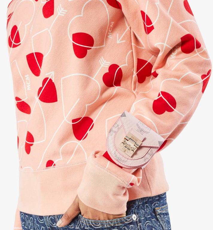 MCM Patricia Bag Bracelet in Visetos Pink MEJAAMM01QH001 Alternate View 7