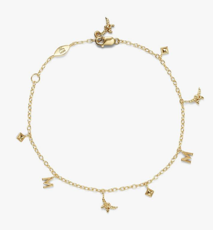 MCM Logo Laurel Charm Bracelet Gold MEJASMM06DG001 Alternate View 2