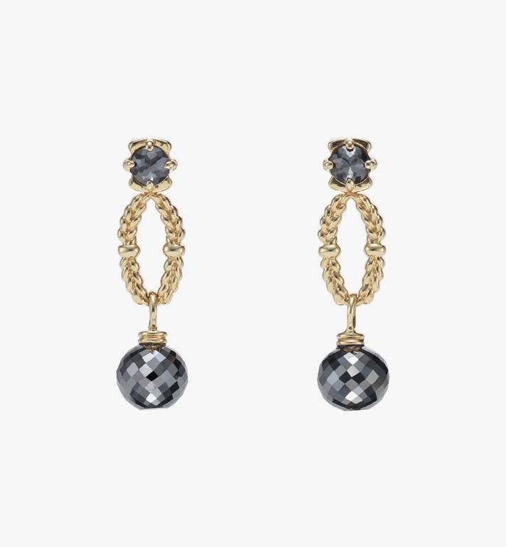 MCM Diamond Wreath Earrings Alternate View