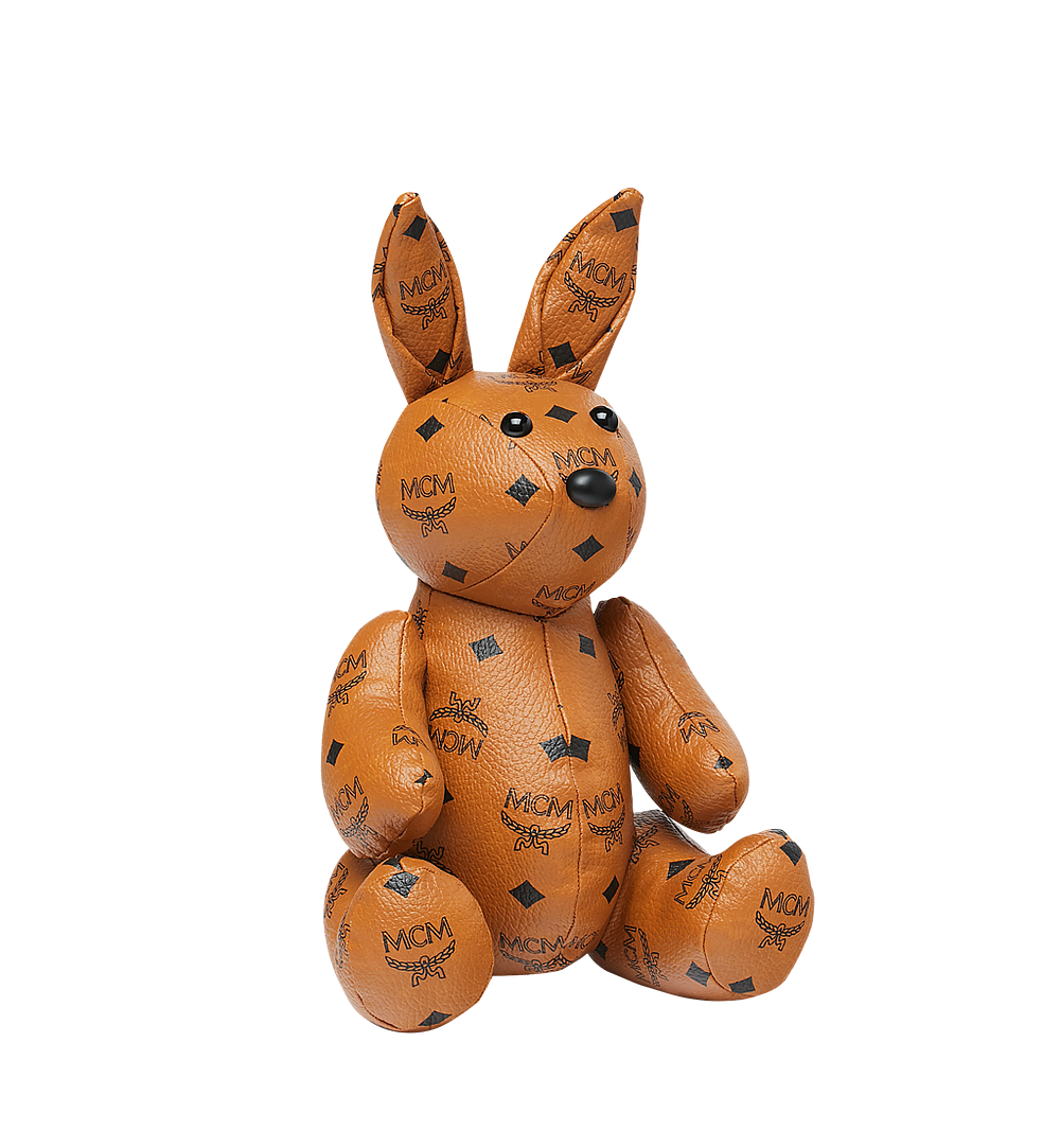 MCM Rabbit Doll in Visetos Cognac MEL8SVD23CO001 Alternate View 1
