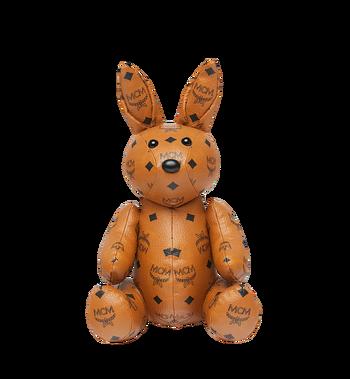 MCM Rabbit Doll in Visetos Cognac MEL8SVD23CO001 Alternate View 4