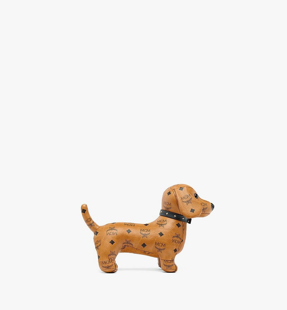 MCM Dachshund Doll in Visetos Cognac MELBSVD07CO001 Alternate View 1