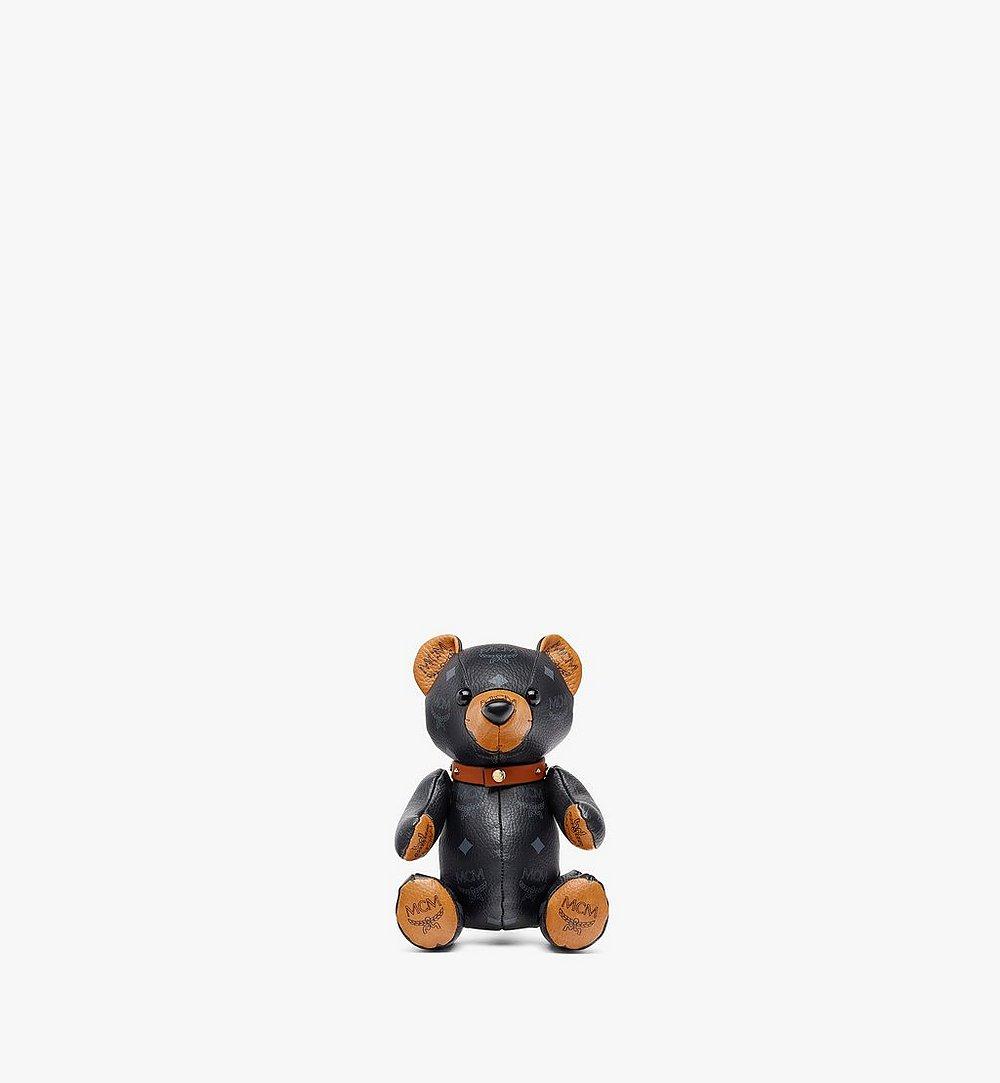 MCM Bear Doll in Visetos Black MELBSVD08BK001 Alternate View 1